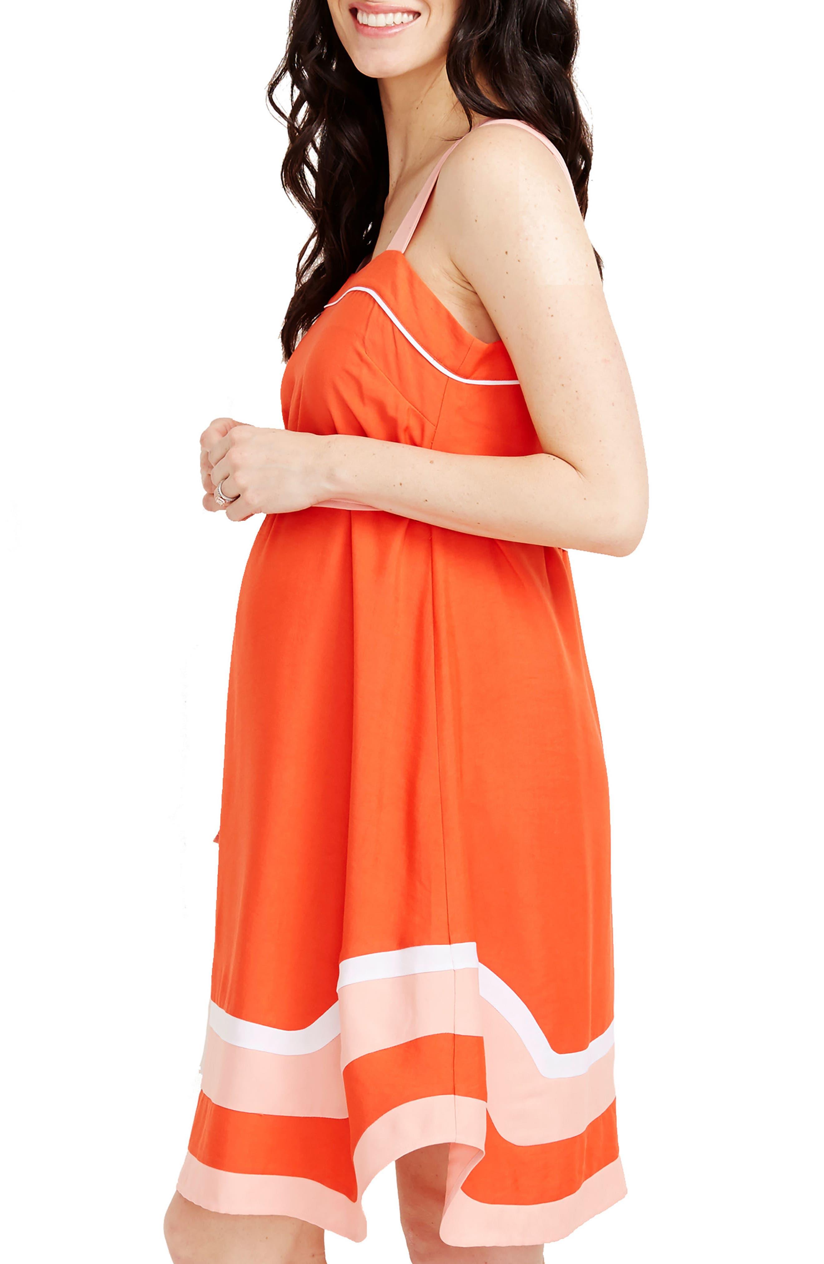ROSIE POPE,                             Delfina Maternity Dress,                             Alternate thumbnail 3, color,                             820