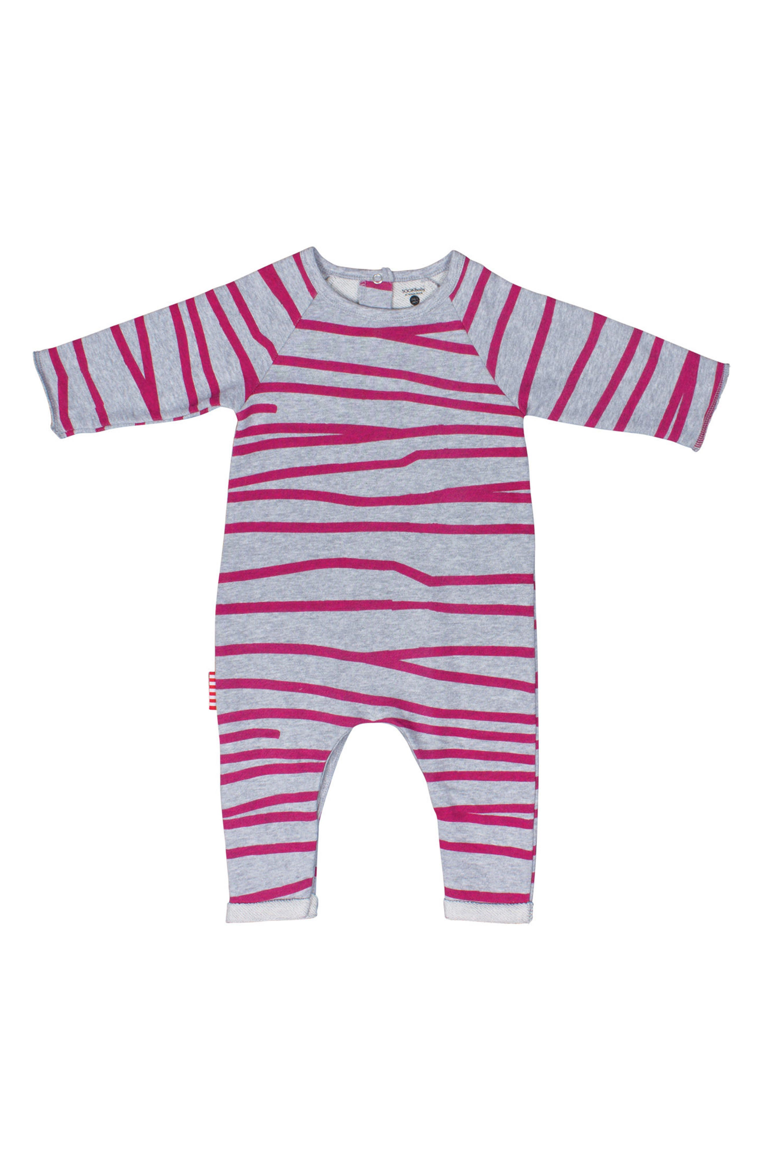 Stripe Romper,                             Main thumbnail 1, color,                             035