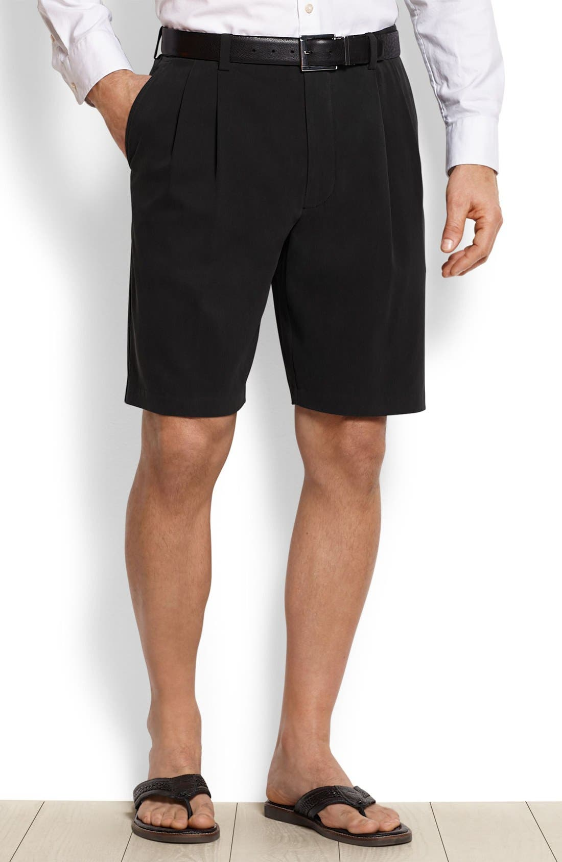 St. Thomas Pleated Shorts,                             Main thumbnail 1, color,                             001