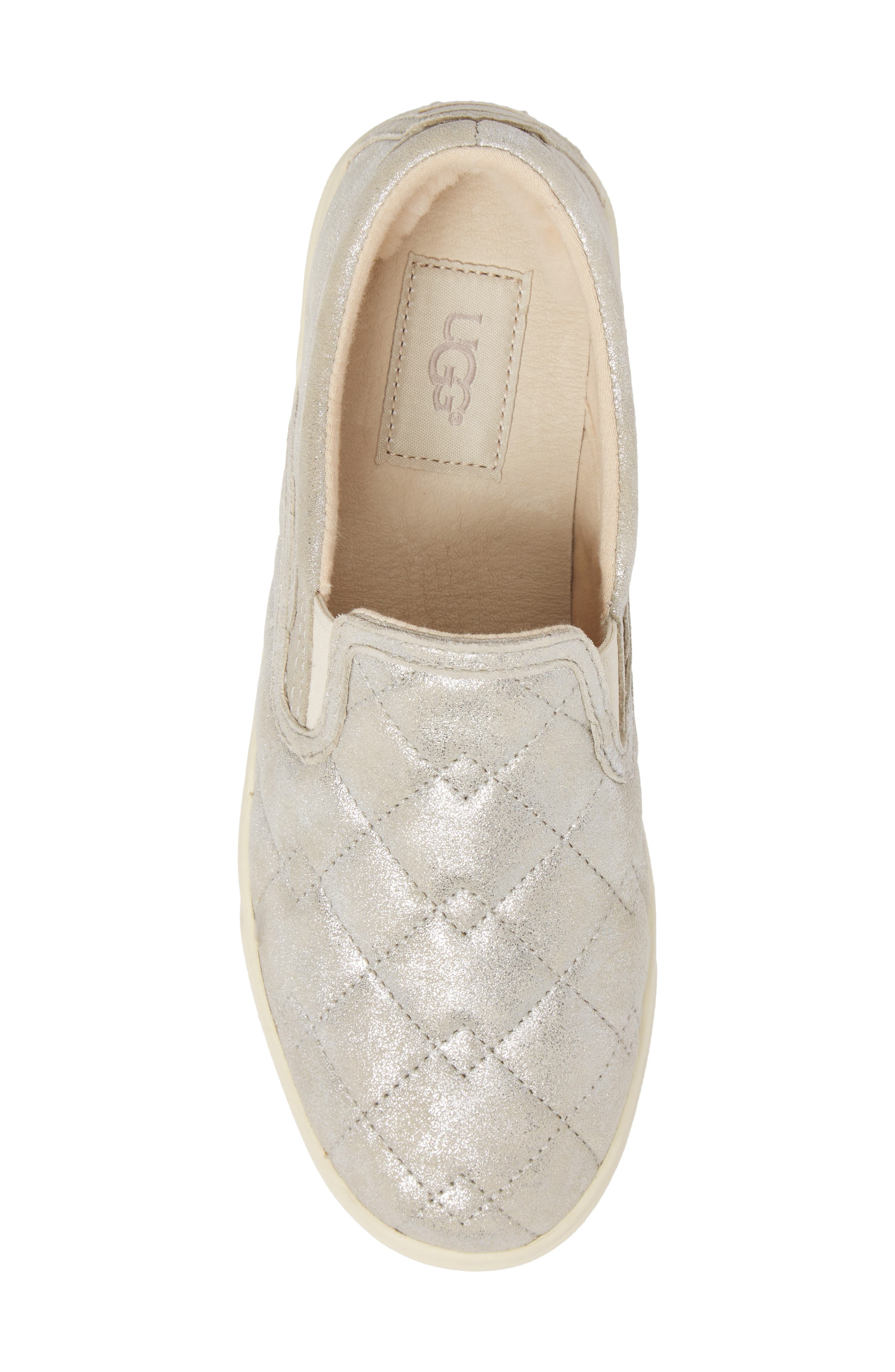 Fierce Stardust Quilted Slip-On Sneaker,                             Alternate thumbnail 5, color,                             040