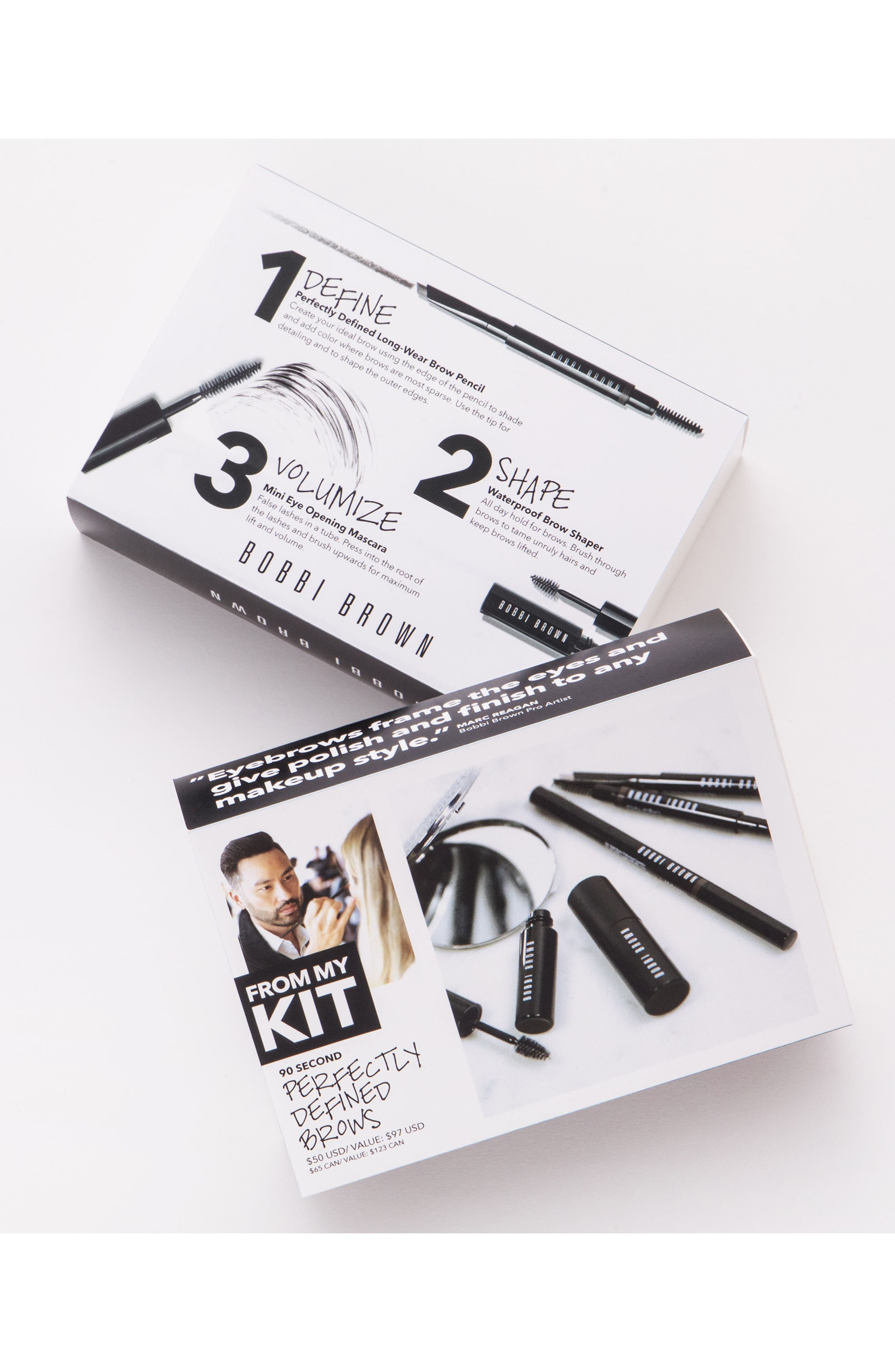 90 Second Perfectly Defined Brows Kit,                             Alternate thumbnail 3, color,                             200
