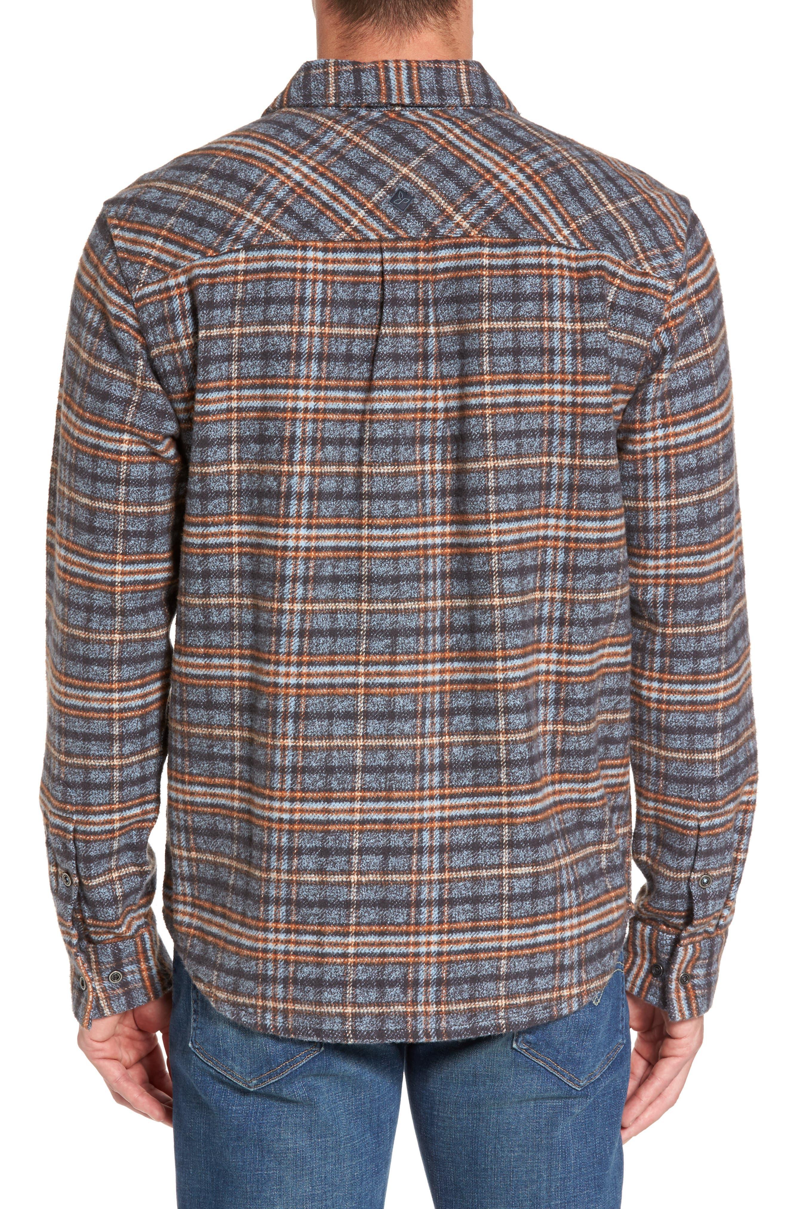 Brayden Regular Fit Plaid Flannel Shirt,                             Alternate thumbnail 3, color,