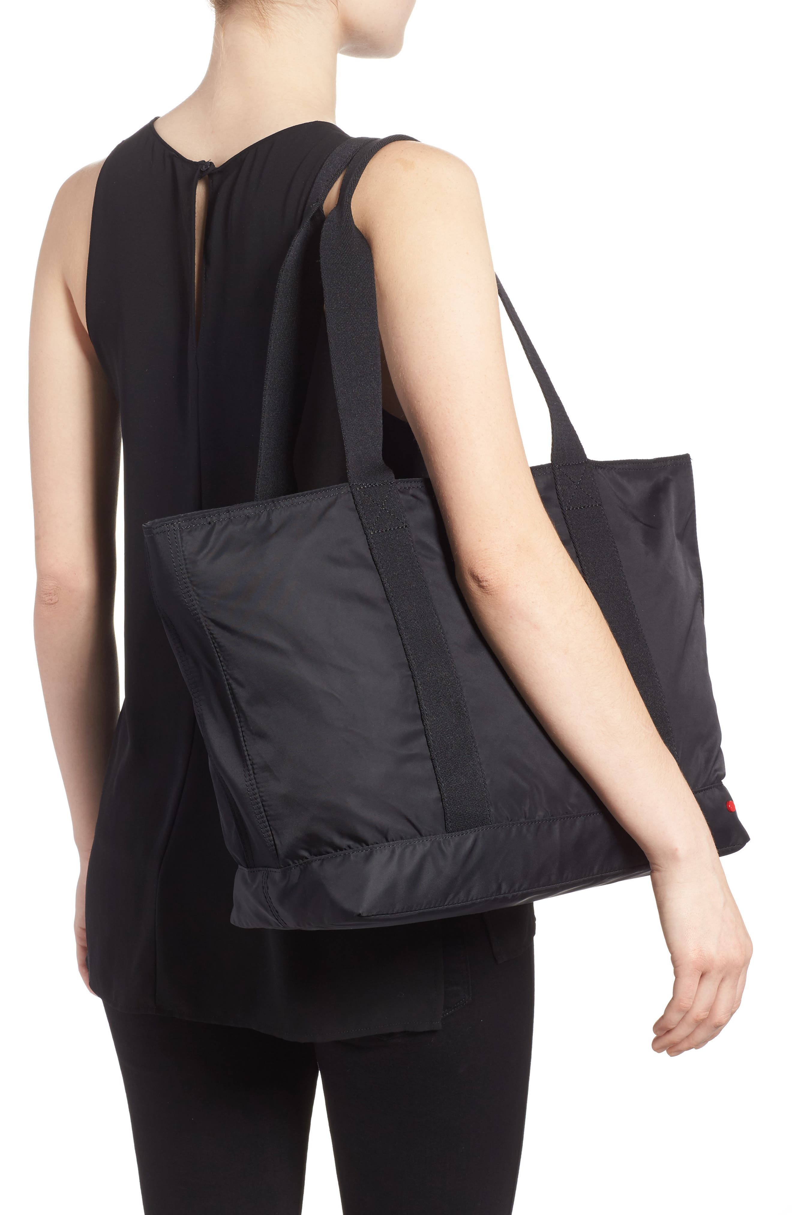 The Heights Nylon Tote,                             Alternate thumbnail 2, color,                             BLACK