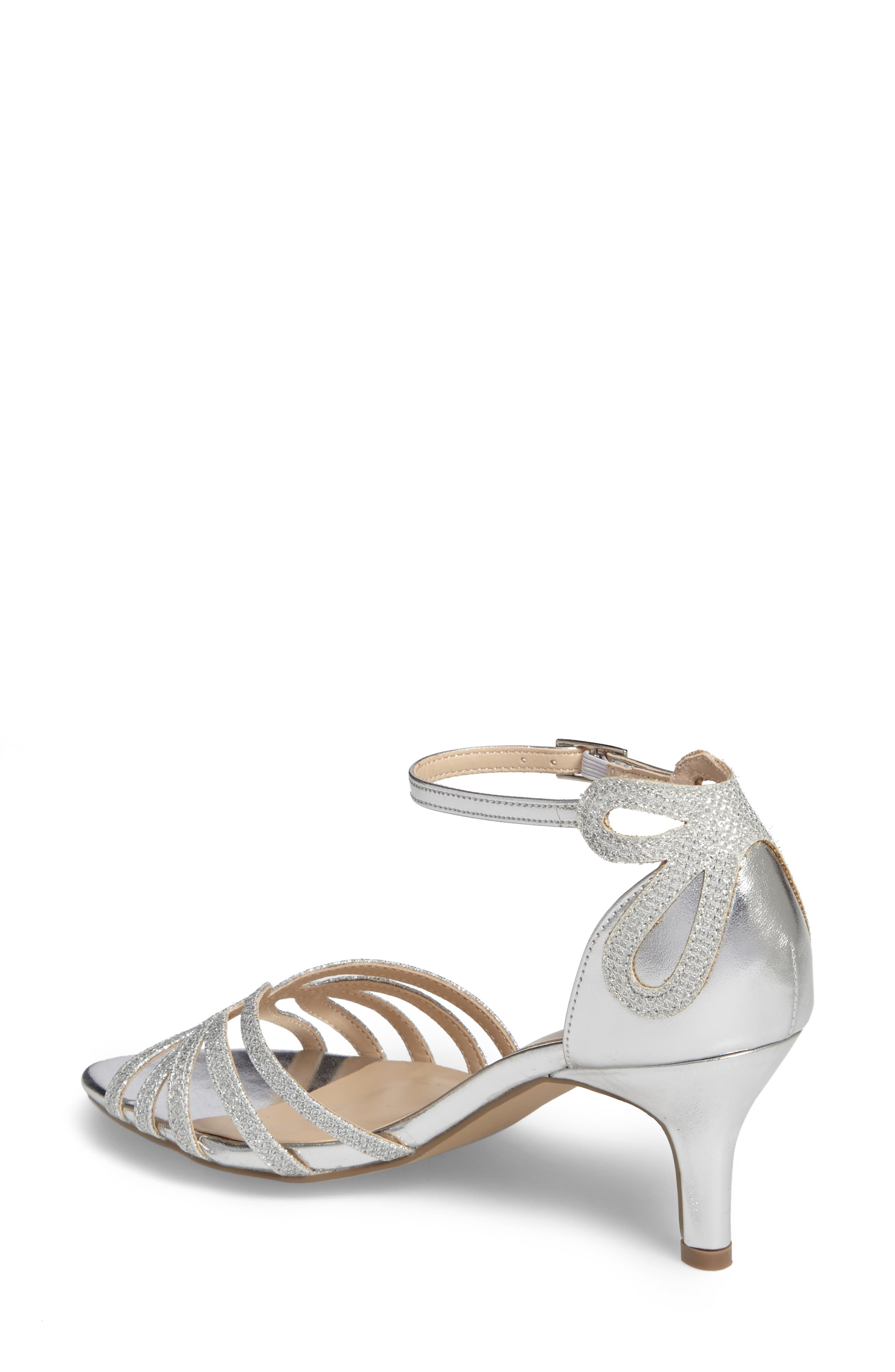 Melby Ankle Strap Sandal,                             Alternate thumbnail 2, color,                             SILVER