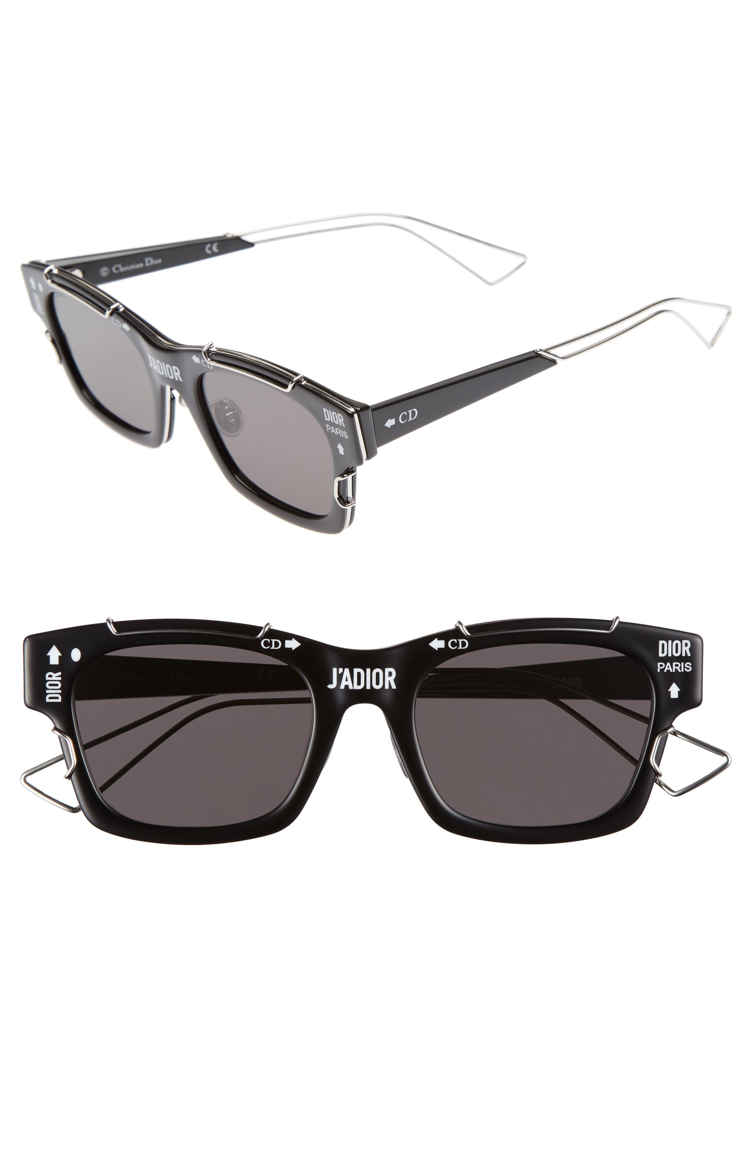 DIOR,                             J'Adior 51mm Sunglasses,                             Main thumbnail 1, color,                             001