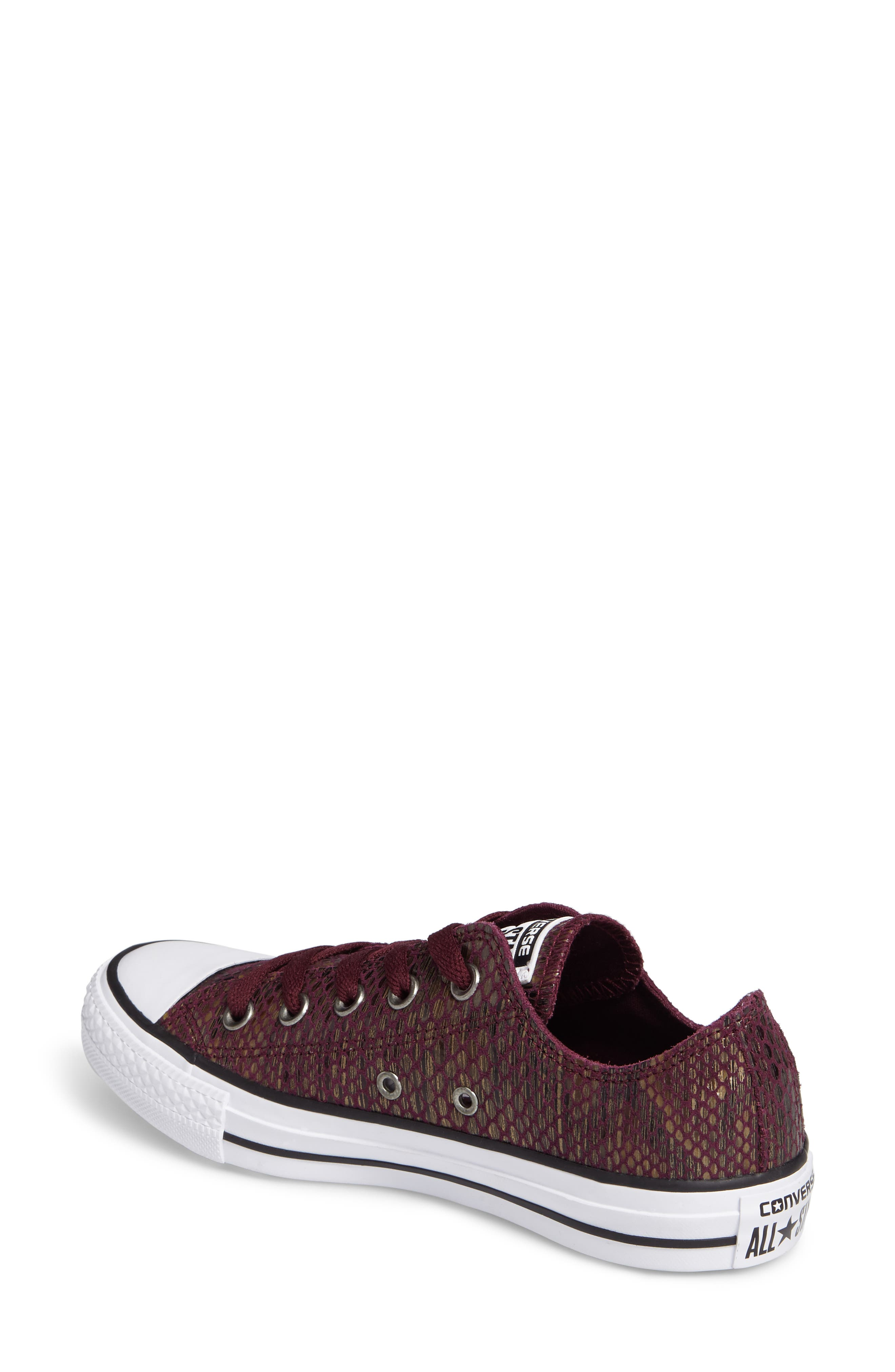 Chuck Taylor<sup>®</sup> All Star<sup>®</sup> Ox Leather Sneaker,                             Alternate thumbnail 4, color,