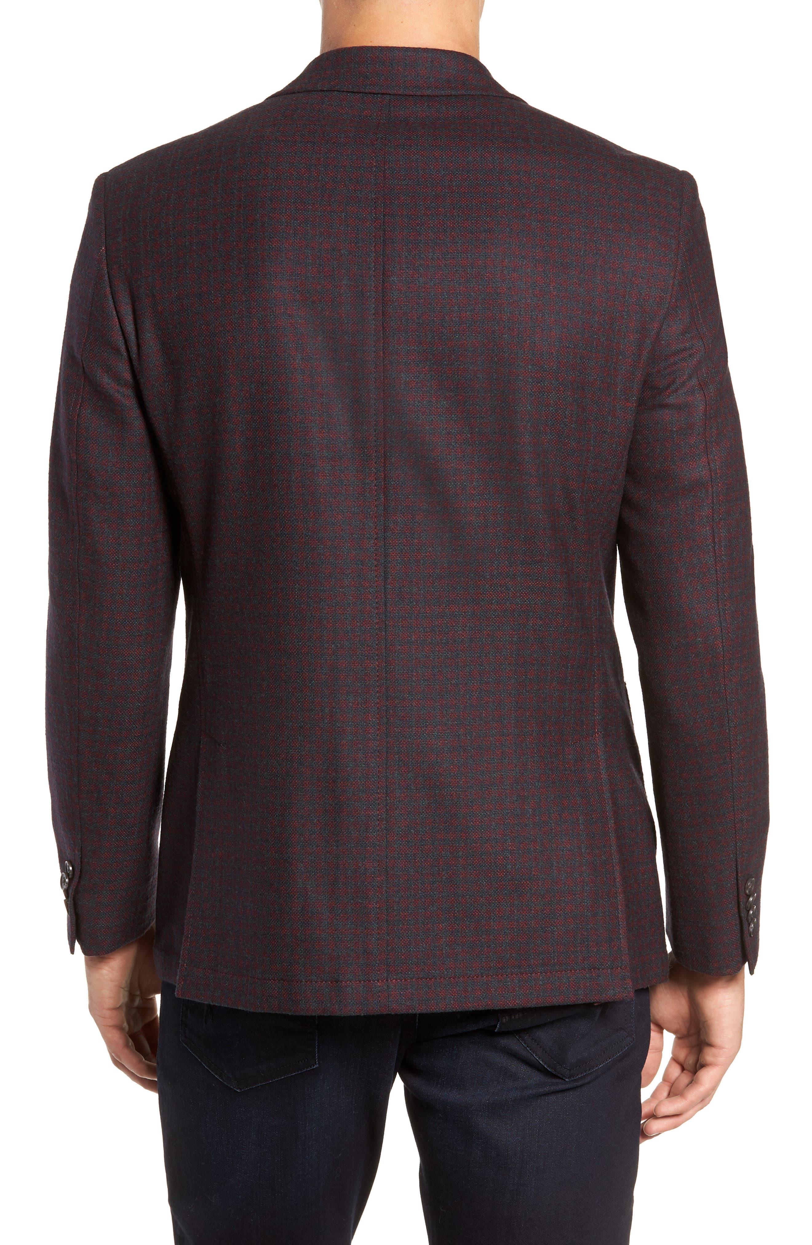 Regular Fit Wool Blend Sport Coat,                             Alternate thumbnail 2, color,                             RED