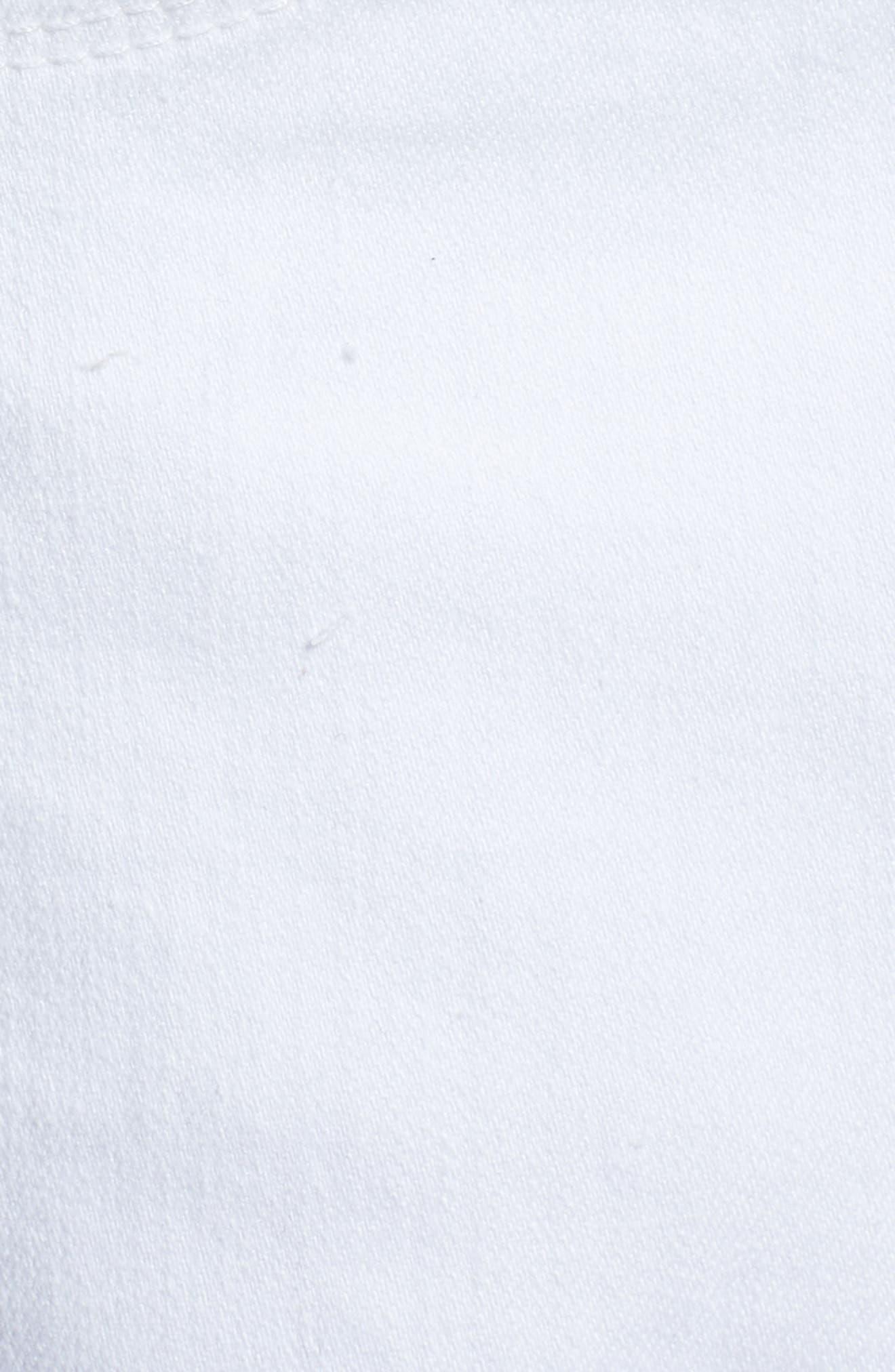 High Waist Cutoff Denim Shorts,                             Alternate thumbnail 5, color,                             100