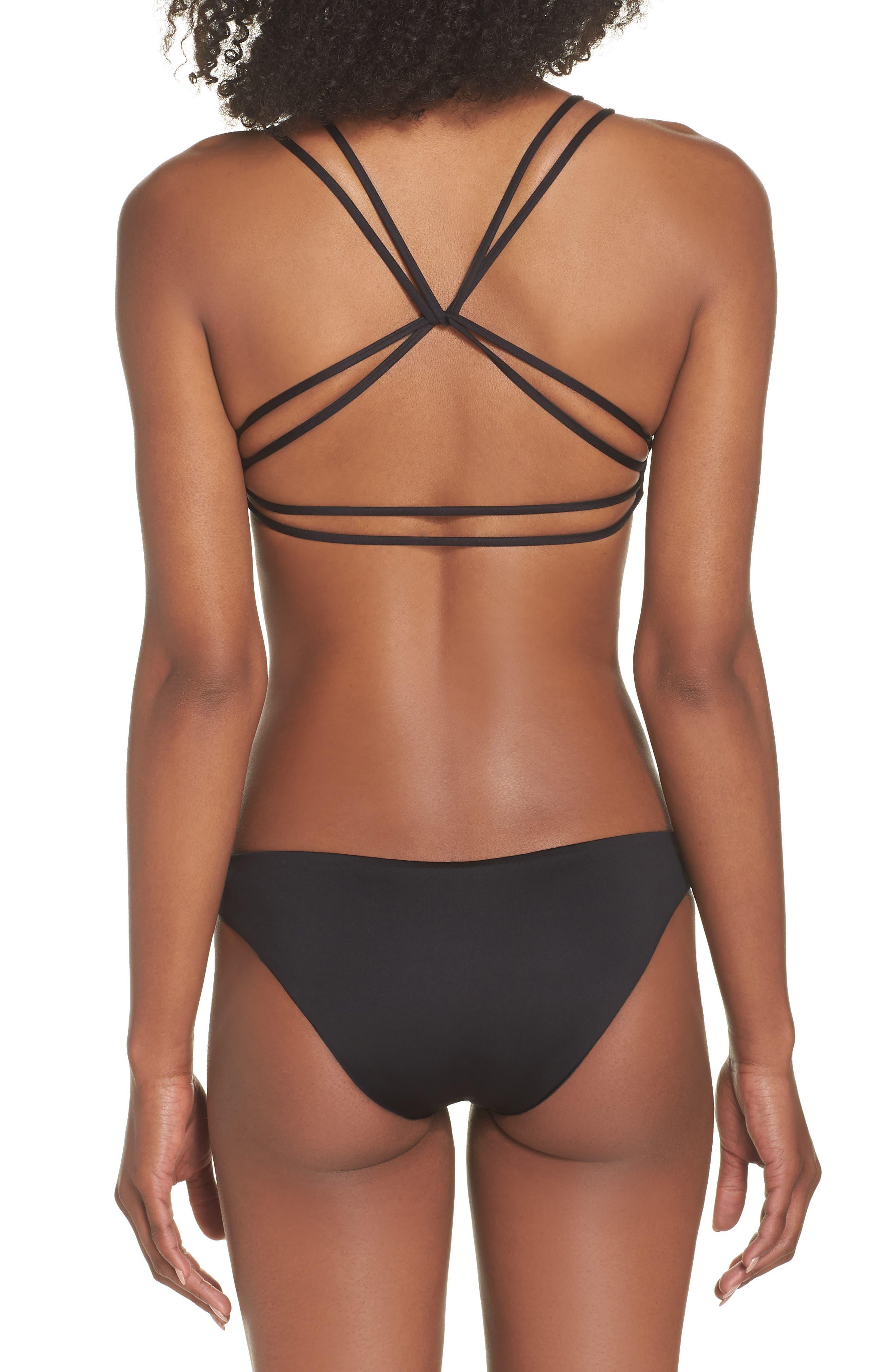 Seaglass Bay Reversible Bikini Bottoms,                             Alternate thumbnail 8, color,                             BLACK
