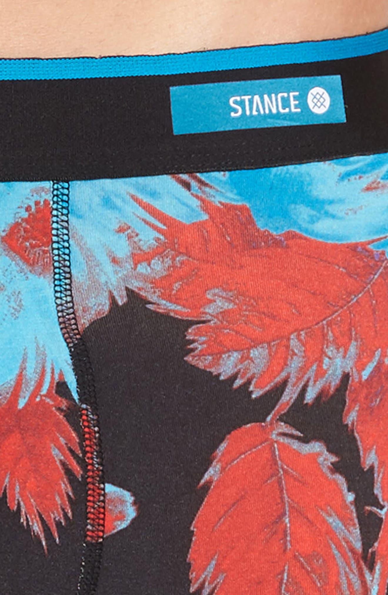 Flower Trip Boxer Briefs,                             Alternate thumbnail 4, color,                             001