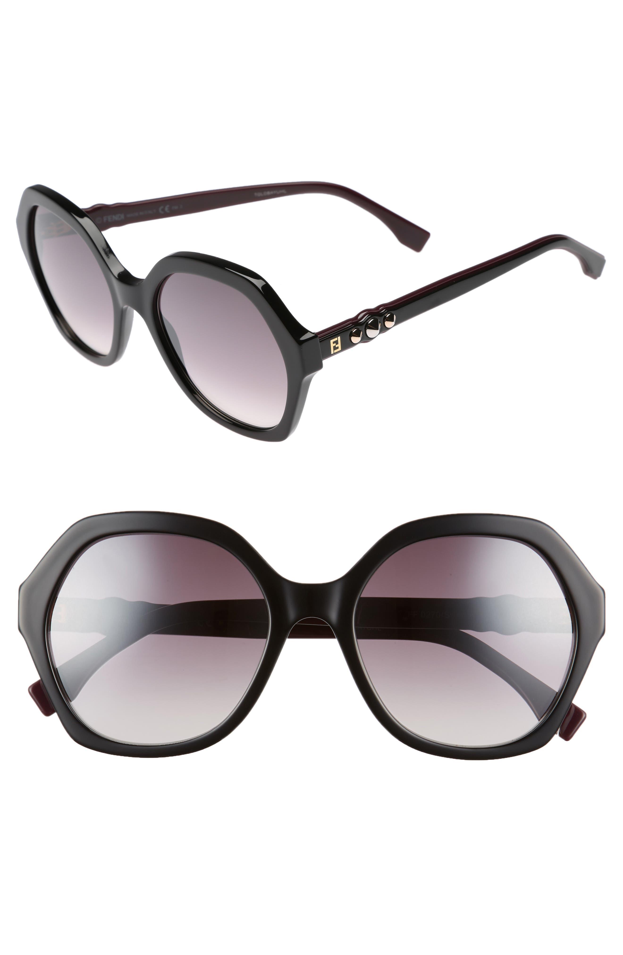 56mm Oversize Sunglasses,                             Main thumbnail 1, color,                             001