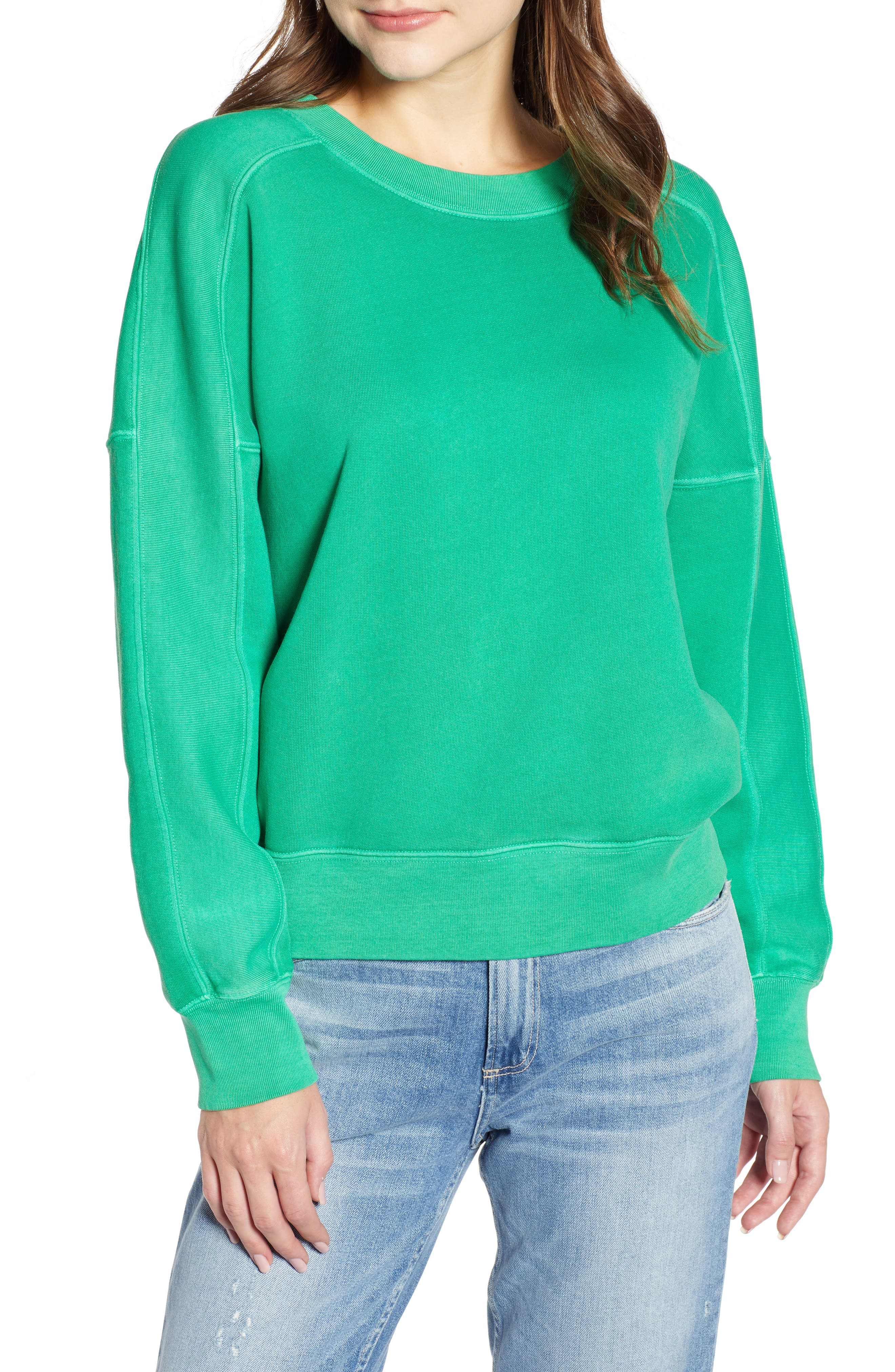 Neon Pullover,                         Main,                         color, GREEN