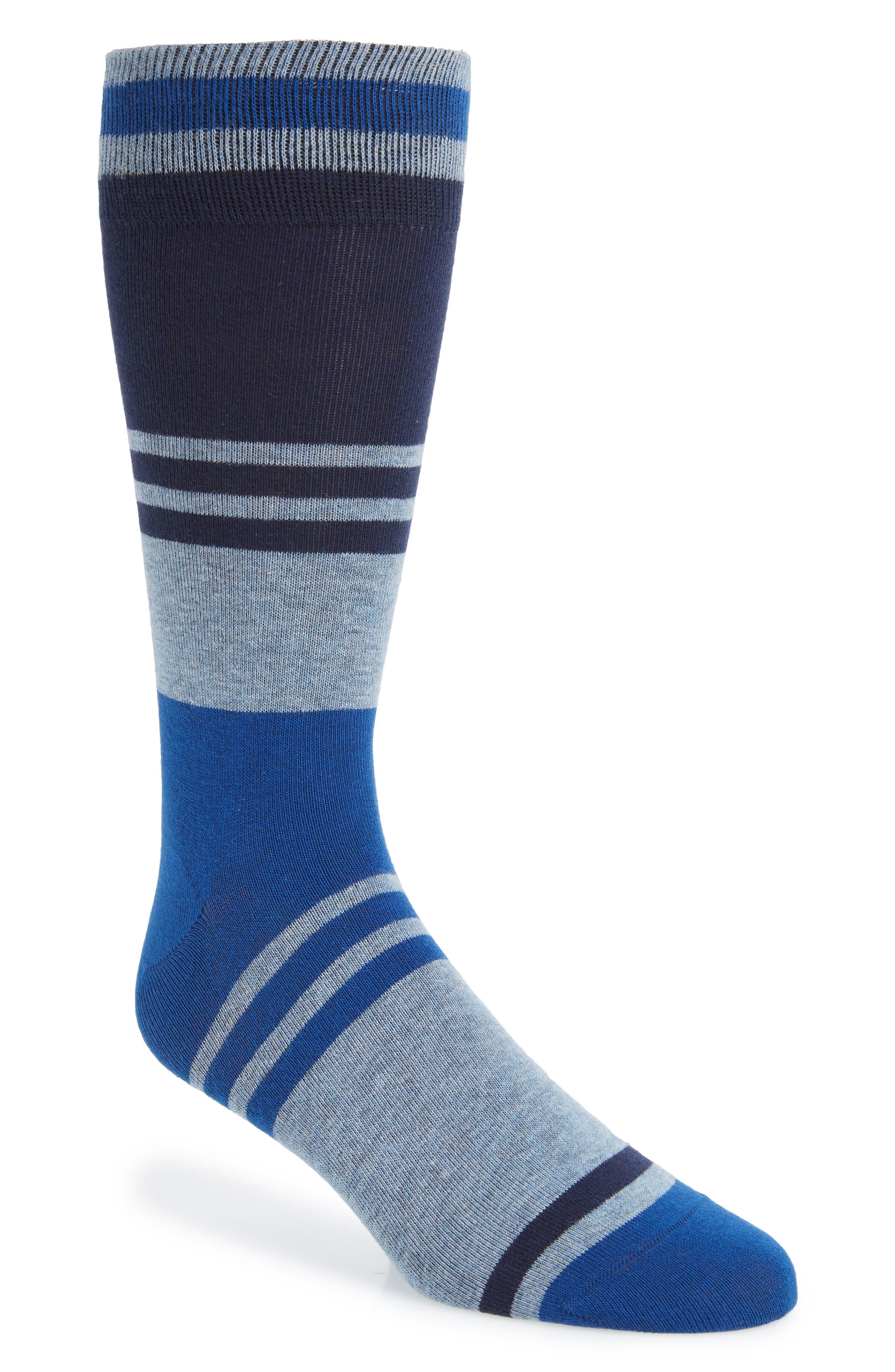 Collegiate Colorblock Socks,                         Main,                         color, BLUE