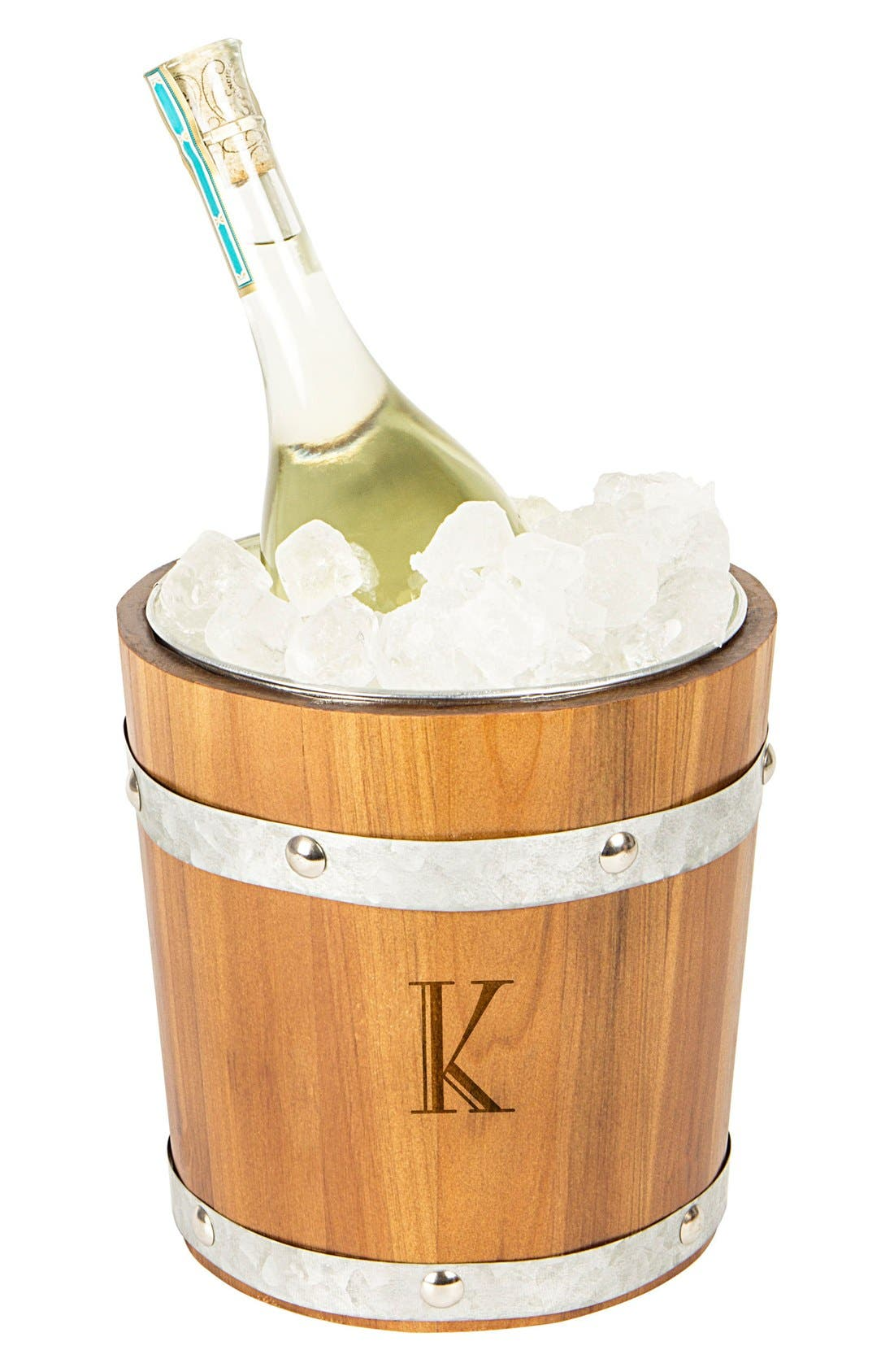 Rustic Monogram Ice Bucket,                             Main thumbnail 12, color,