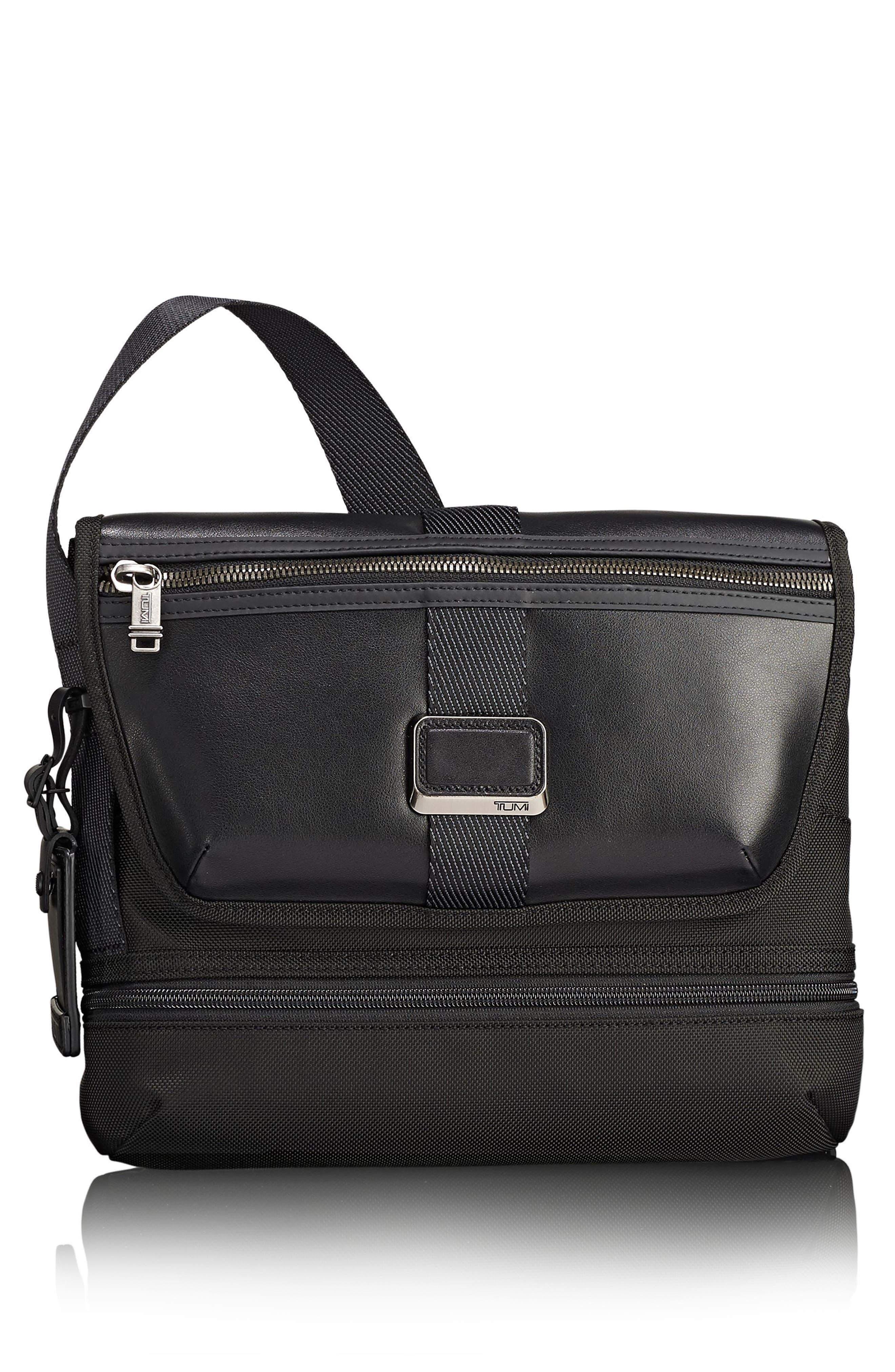 Alpha Bravo - Travis Crossbody Bag,                         Main,                         color, BLACK