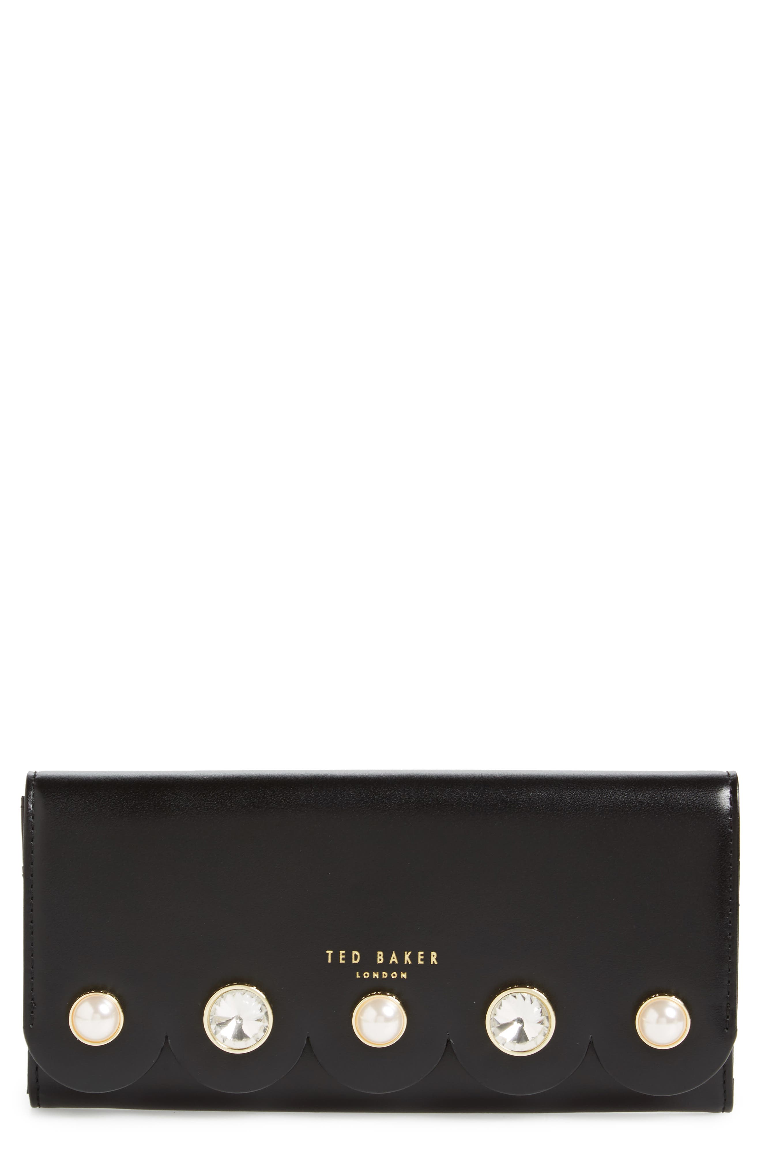 Orica Leather Matinée Clutch,                         Main,                         color, 001