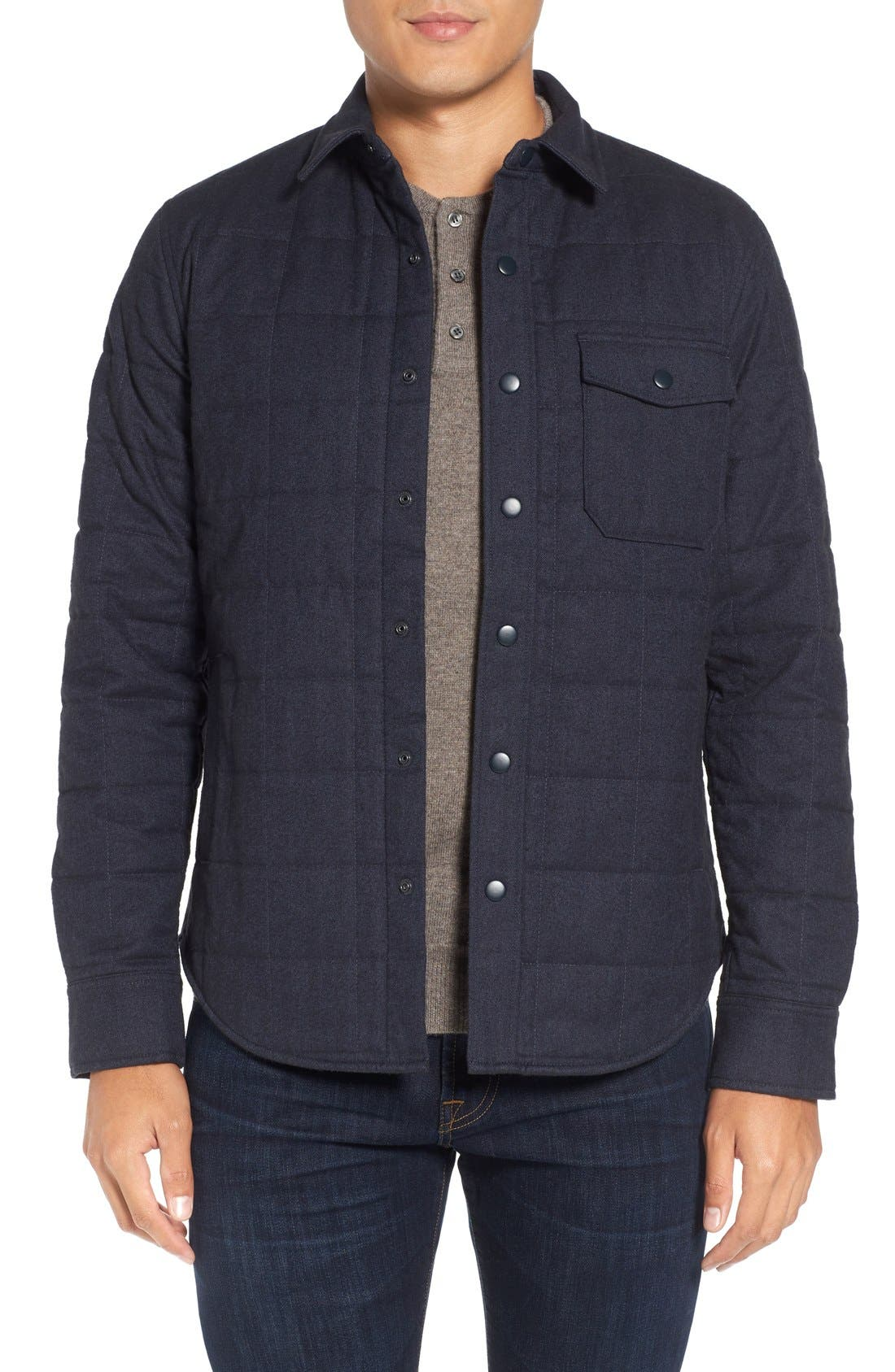 Quilted Herringbone Shirt Jacket,                         Main,                         color,