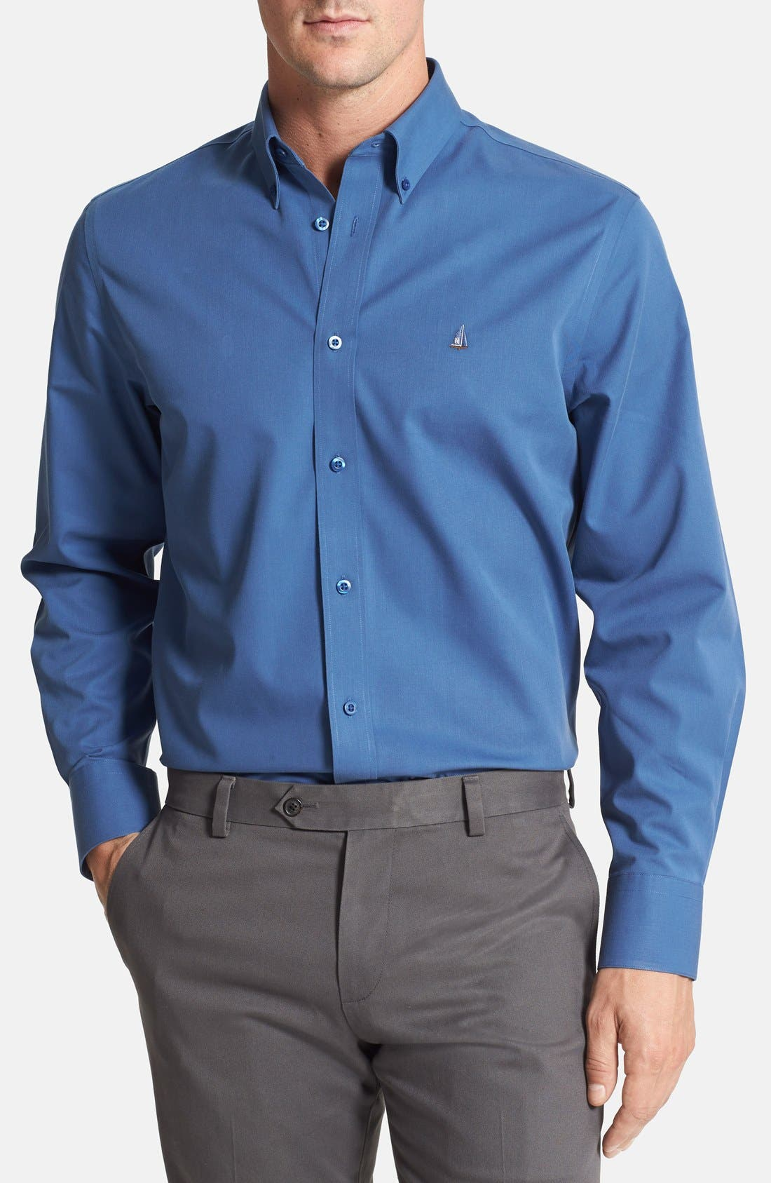 Smartcare<sup>™</sup> Traditional Fit Twill Boat Shirt,                             Main thumbnail 21, color,