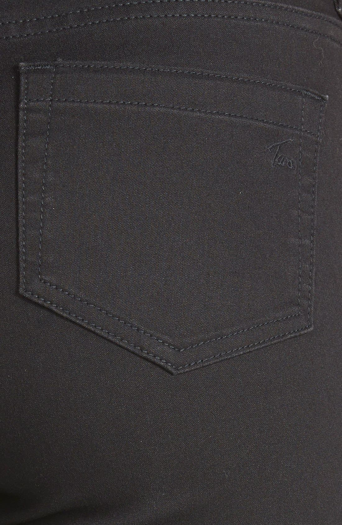 Stretch Skinny Jeans,                             Alternate thumbnail 3, color,                             001