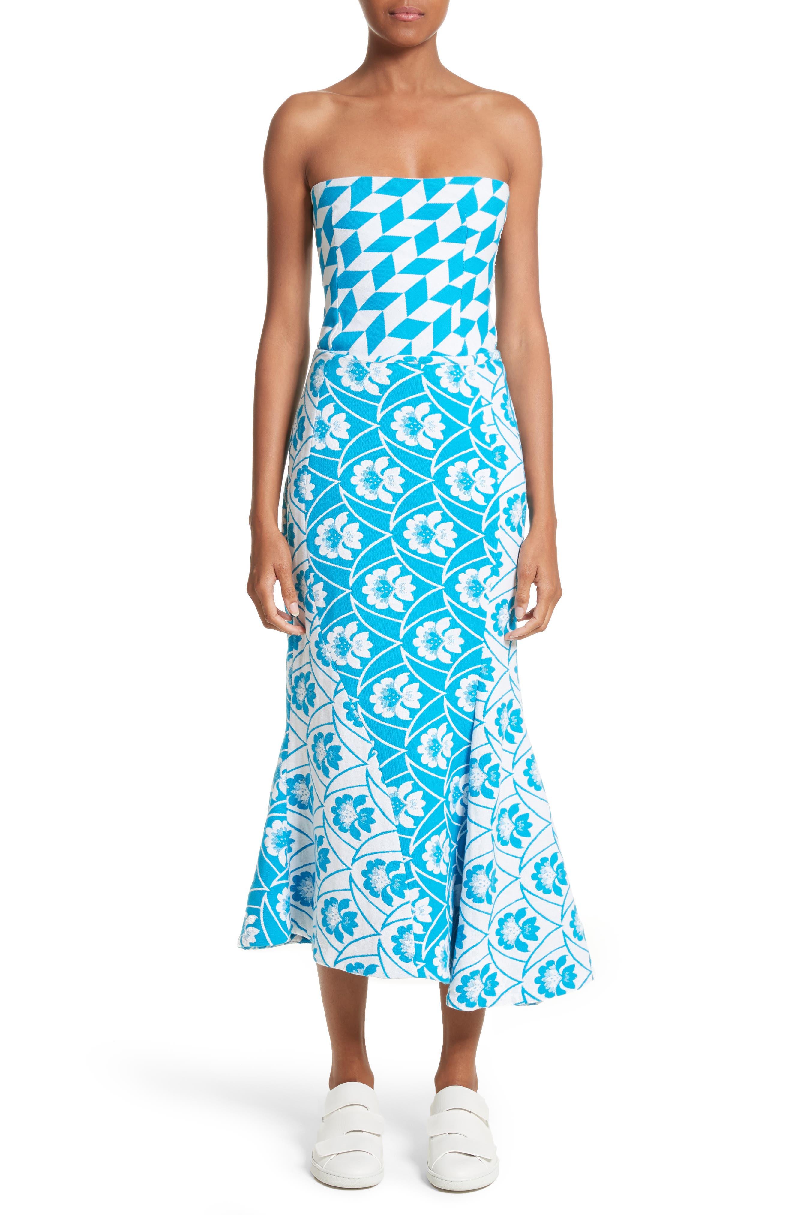 Twist Seam Flare Hem Skirt,                             Alternate thumbnail 7, color,                             460