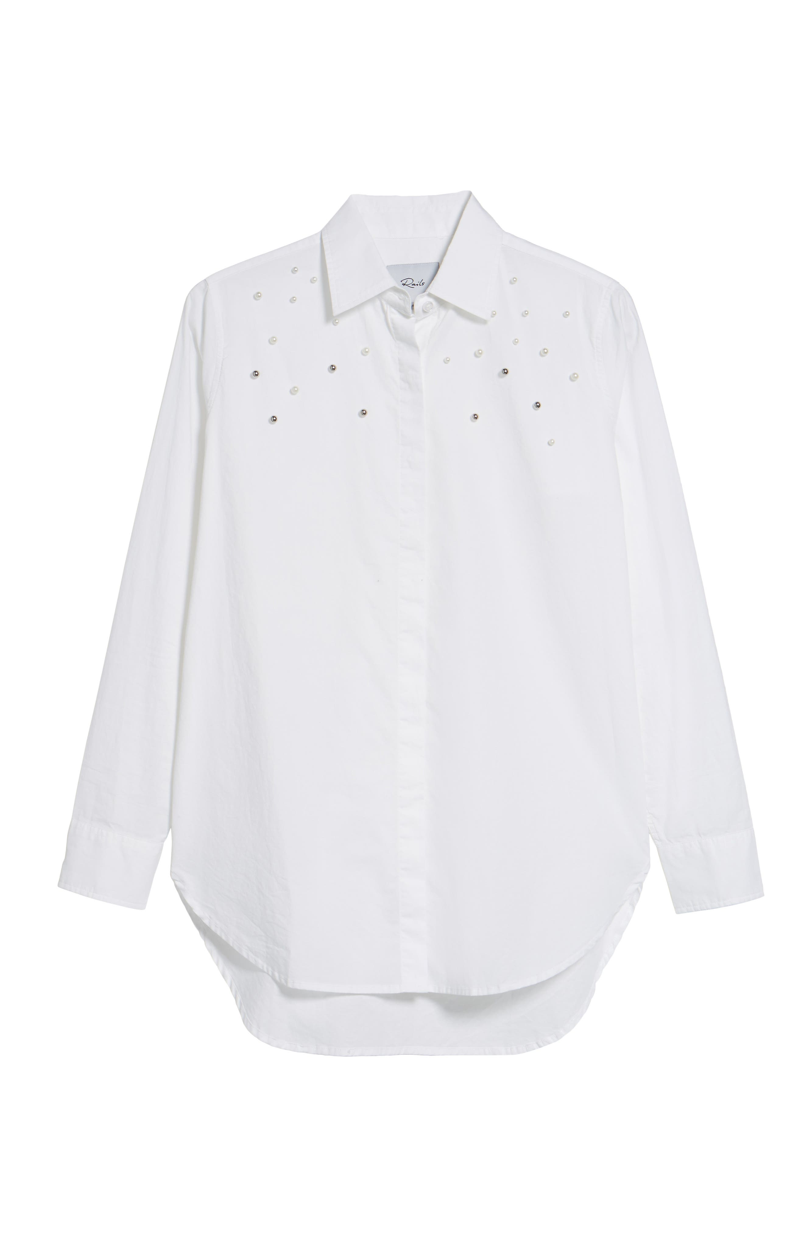 Taylor Beaded Shirt,                             Alternate thumbnail 6, color,                             100