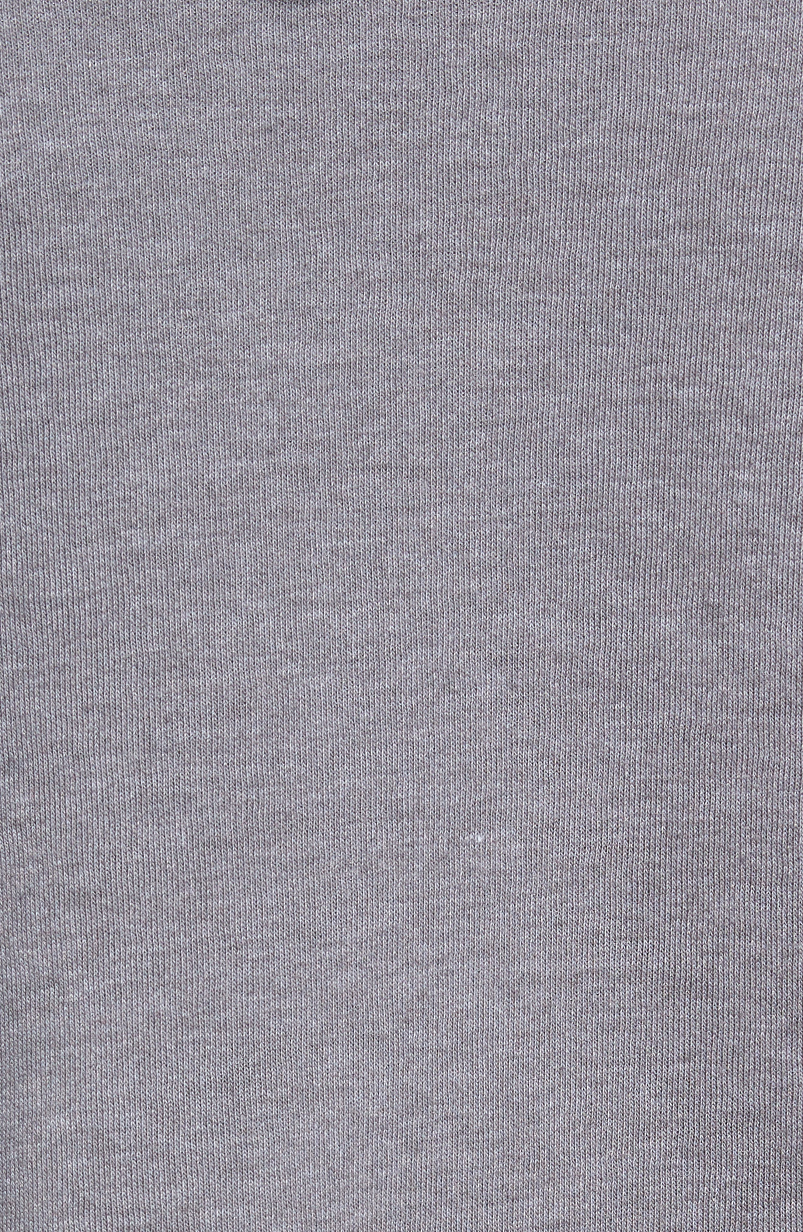 North Face Logo Patch Pullover Hoodie,                             Alternate thumbnail 5, color,                             TNF MEDIUM GREY HEATHER