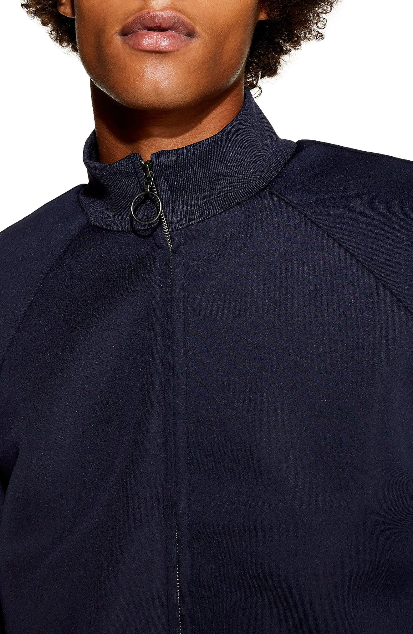 Domino Revere Zip Jacket,                             Alternate thumbnail 2, color,                             NAVY BLUE