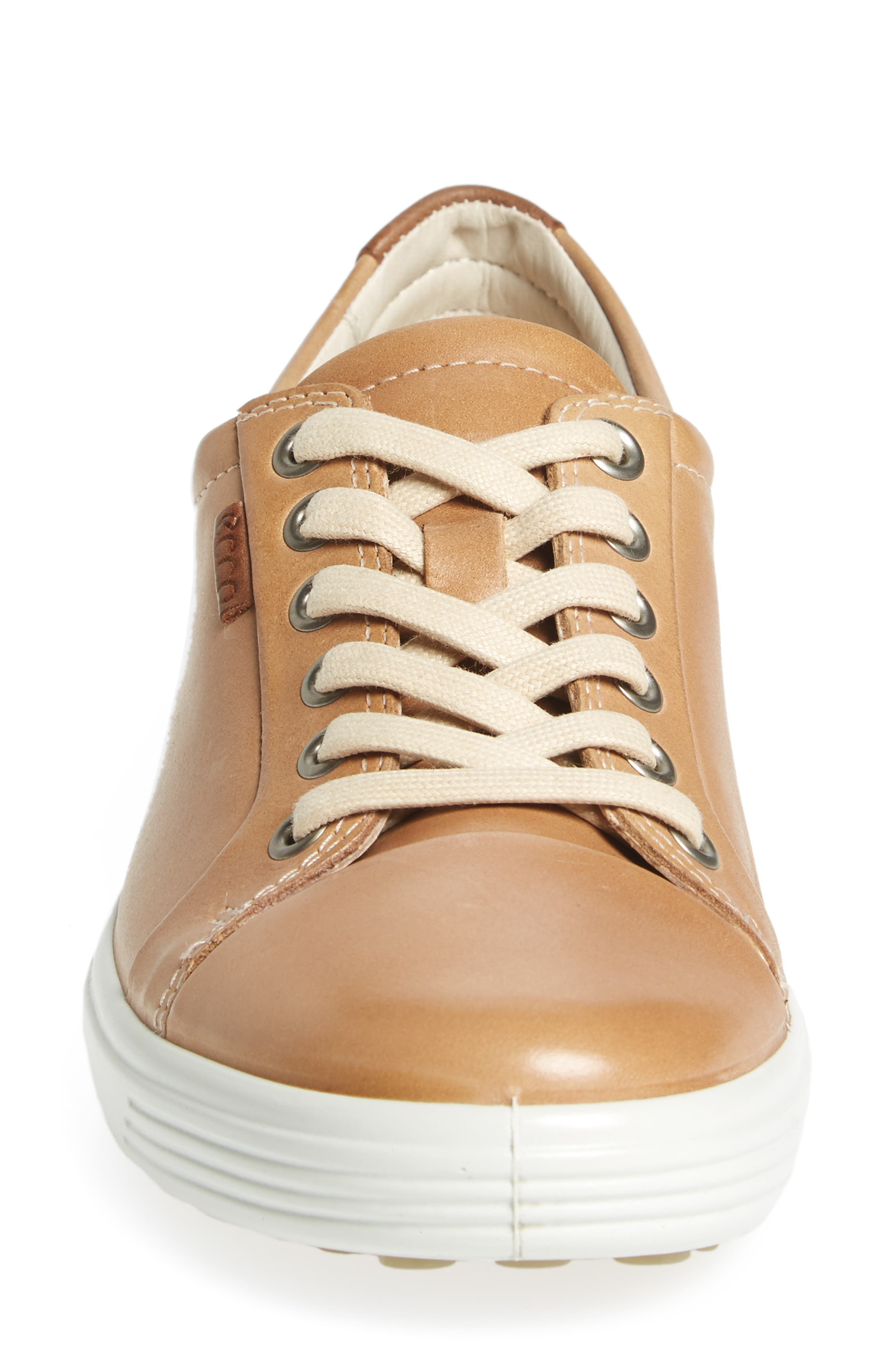 Soft 7 Sneaker,                             Alternate thumbnail 4, color,                             POWDER LEATHER