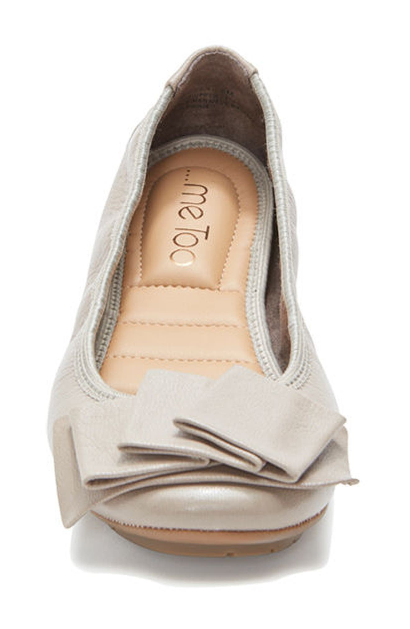 'Lilyana 2.0' Flat,                             Alternate thumbnail 4, color,                             LIGHT GREY LEATHER