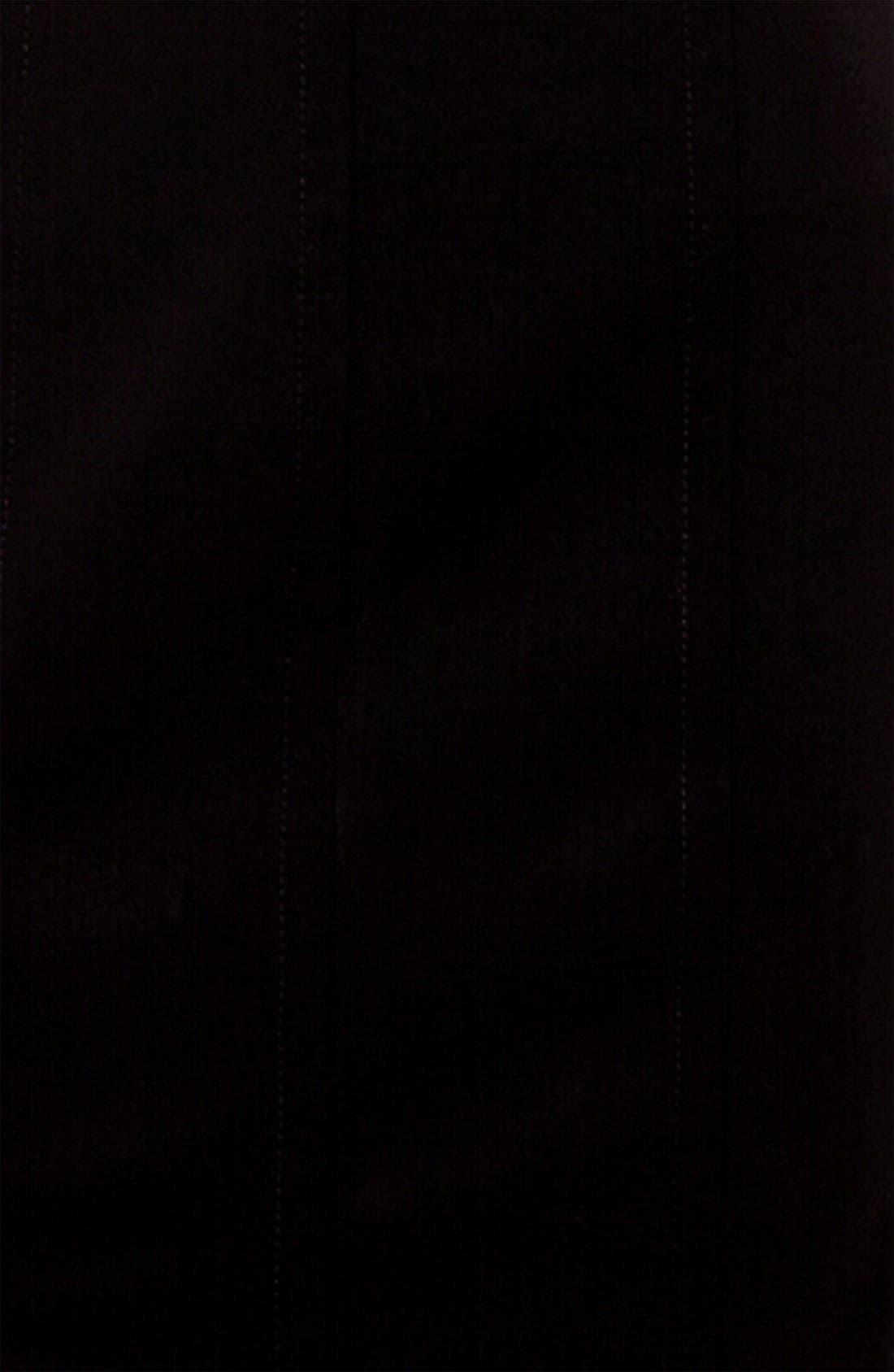 Wool Pencil Skirt,                             Alternate thumbnail 4, color,                             BLACK