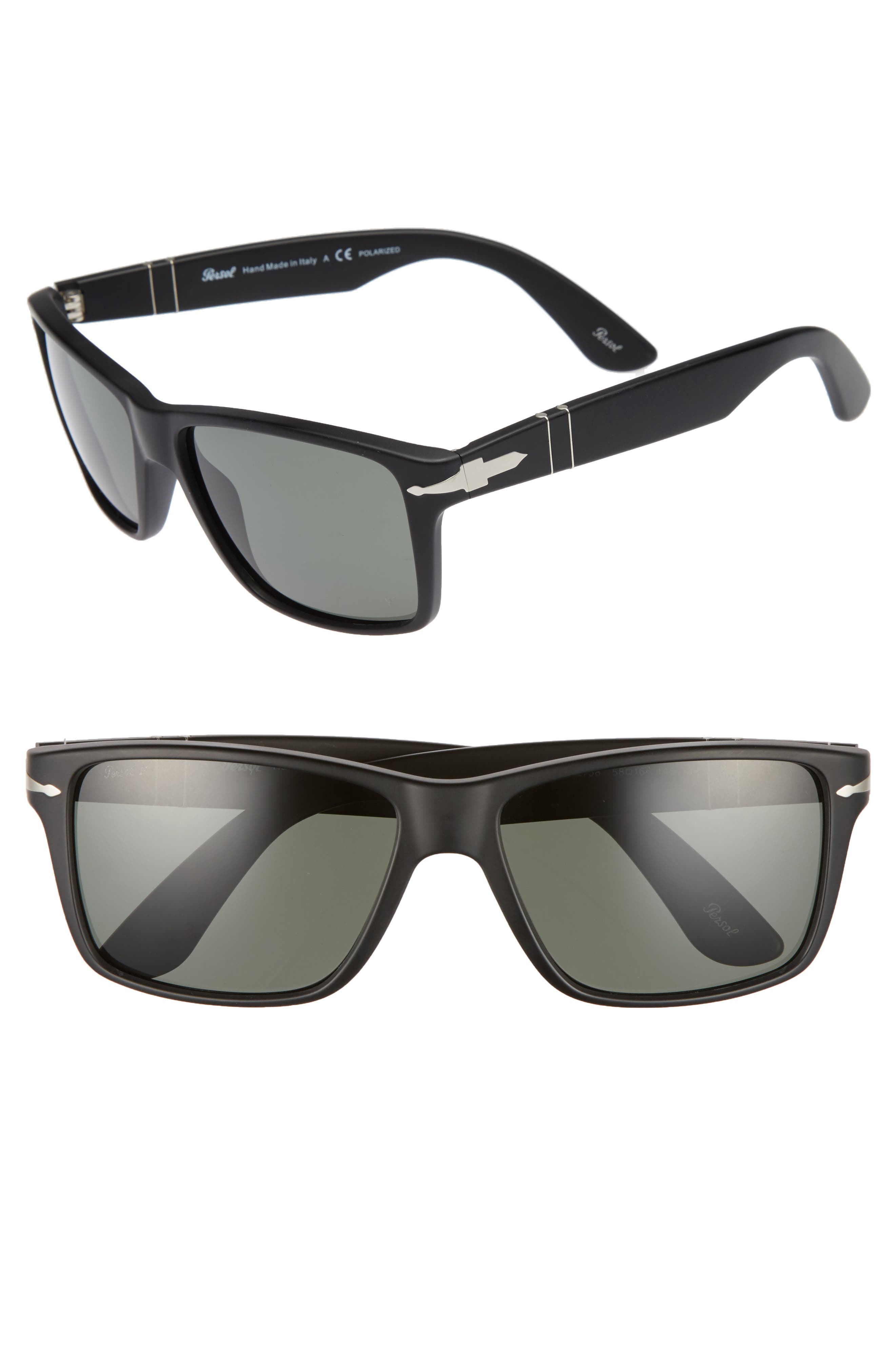 58mm Polarized Sunglasses,                             Main thumbnail 1, color,