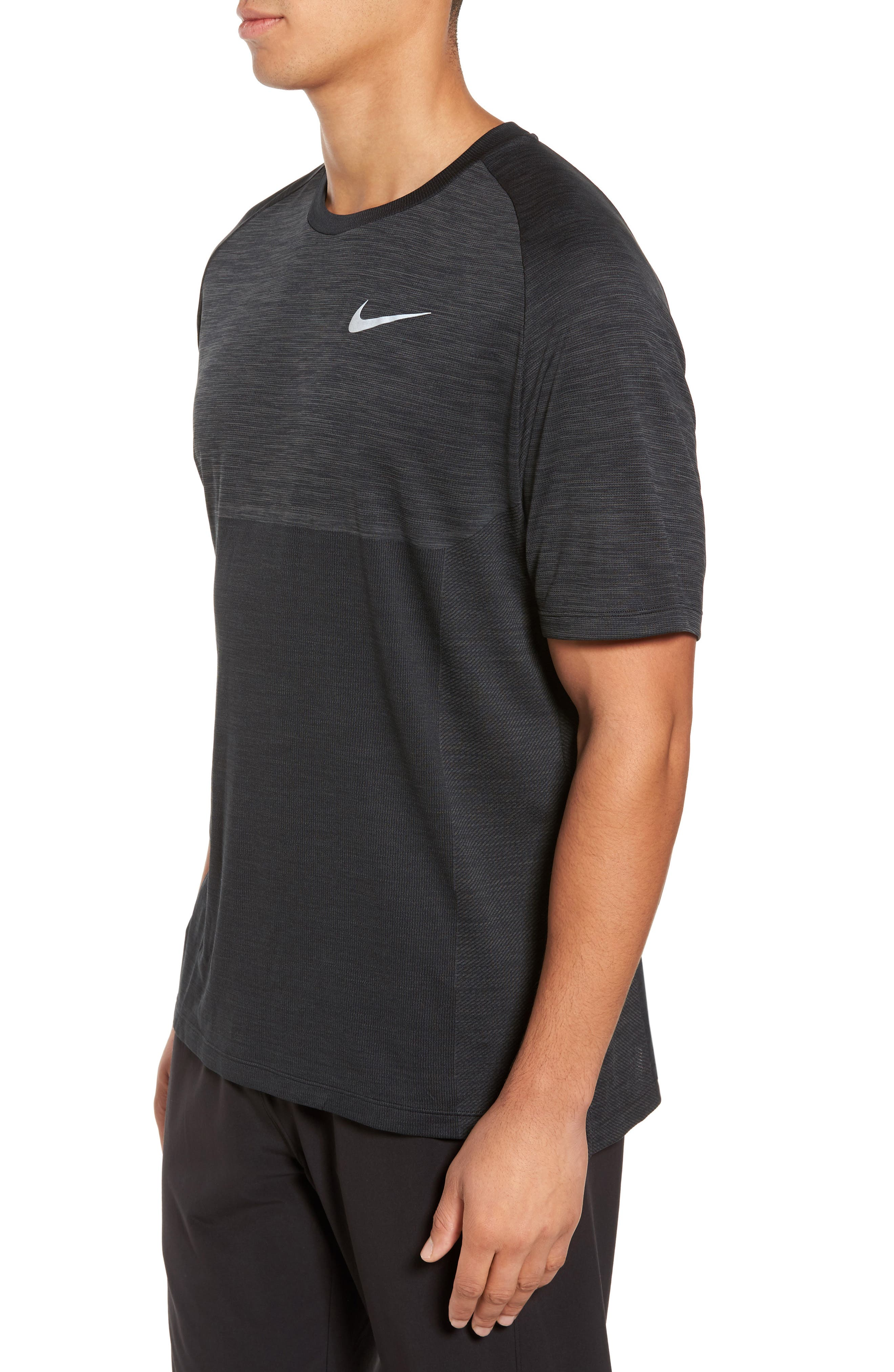 Dry Medalist Running Top,                             Alternate thumbnail 3, color,                             ANTHRACITE/ BLACK