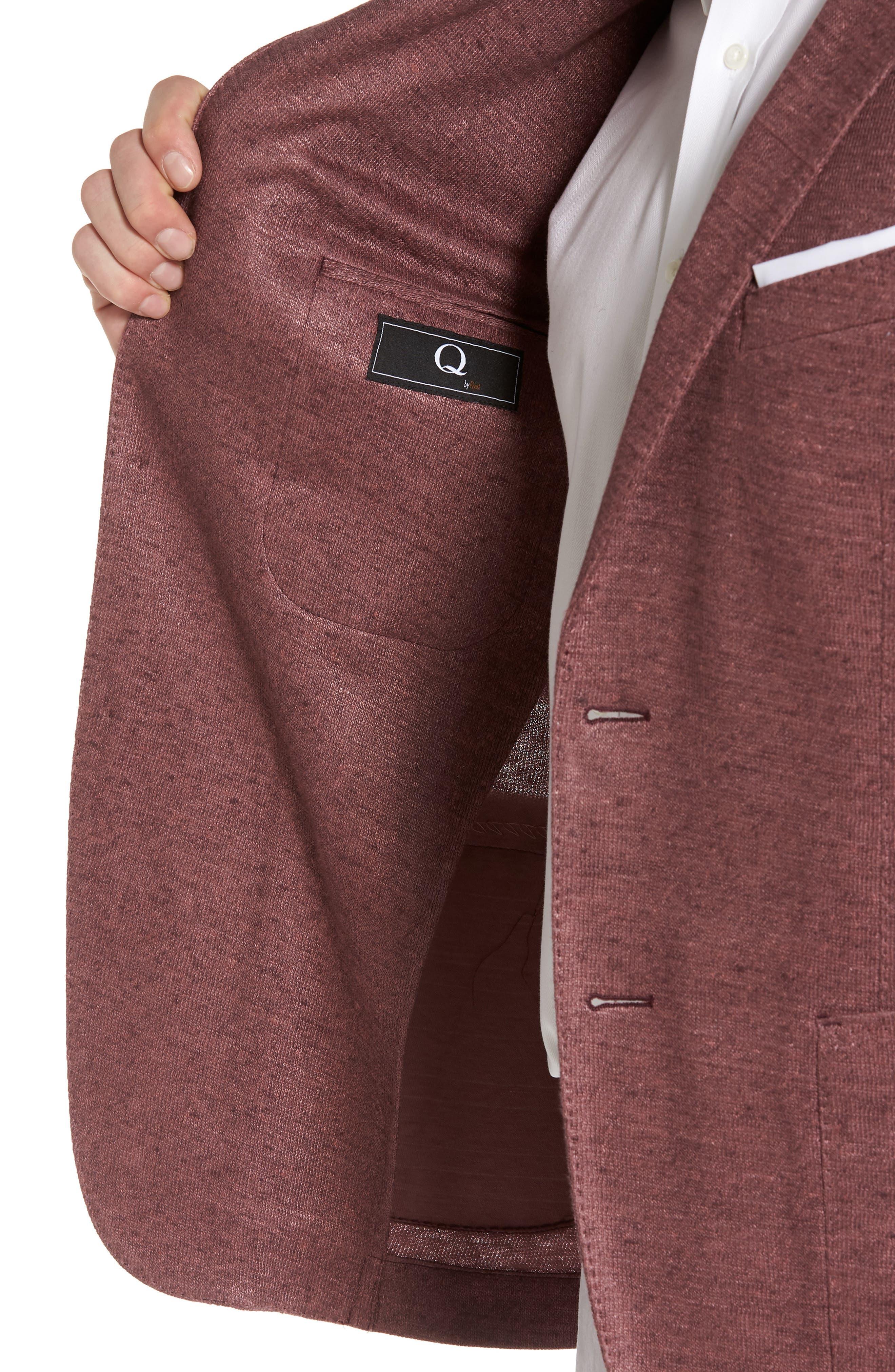 Trim Fit Heathered Jersey Blazer,                             Alternate thumbnail 4, color,                             651
