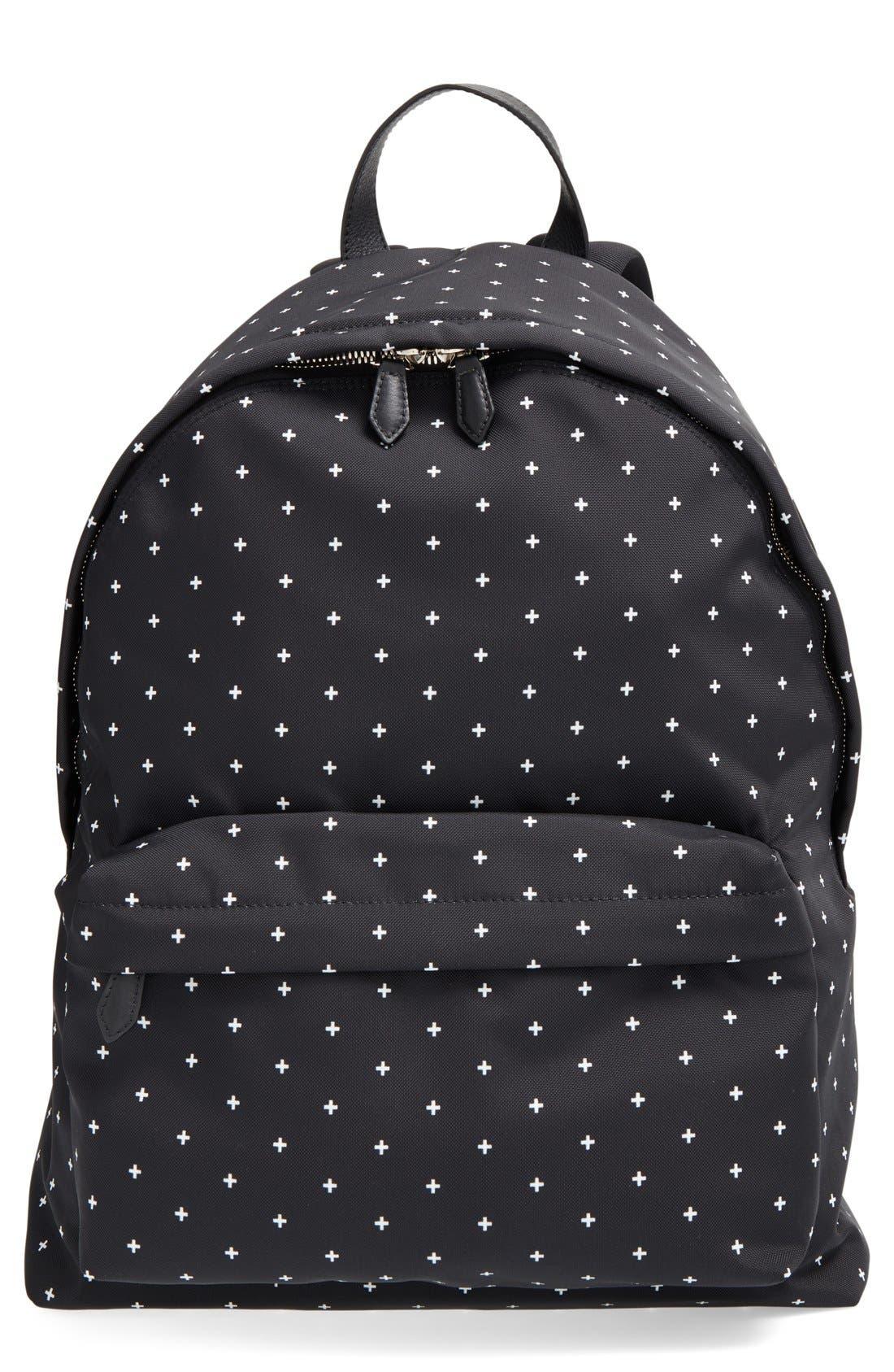 Canvas Backpack,                             Main thumbnail 1, color,                             BLACK