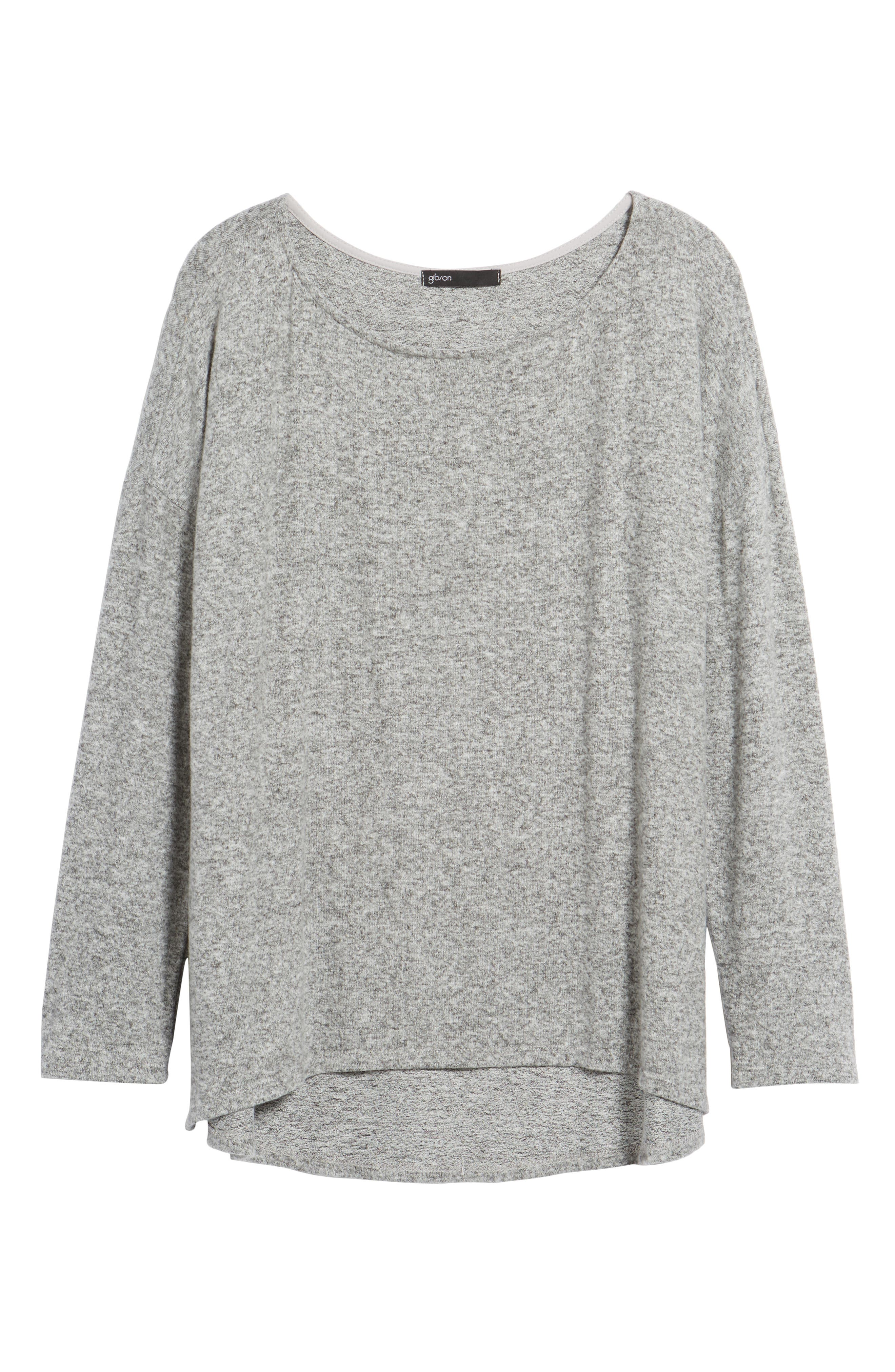 Cozy Ballet Neck High/Low Pullover,                             Alternate thumbnail 25, color,