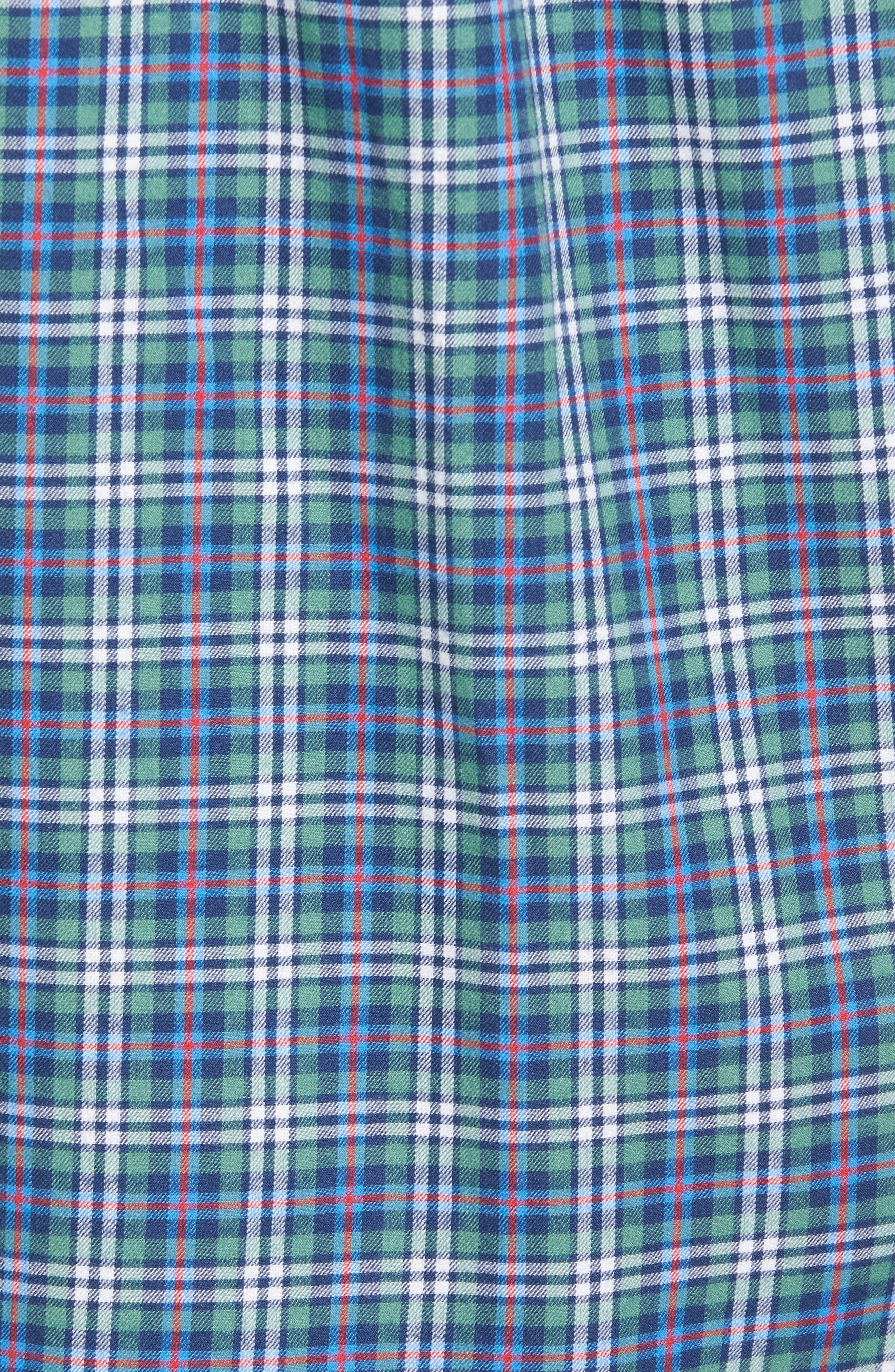Murray Plaid Classic Fit Sport Shirt,                             Alternate thumbnail 5, color,                             303
