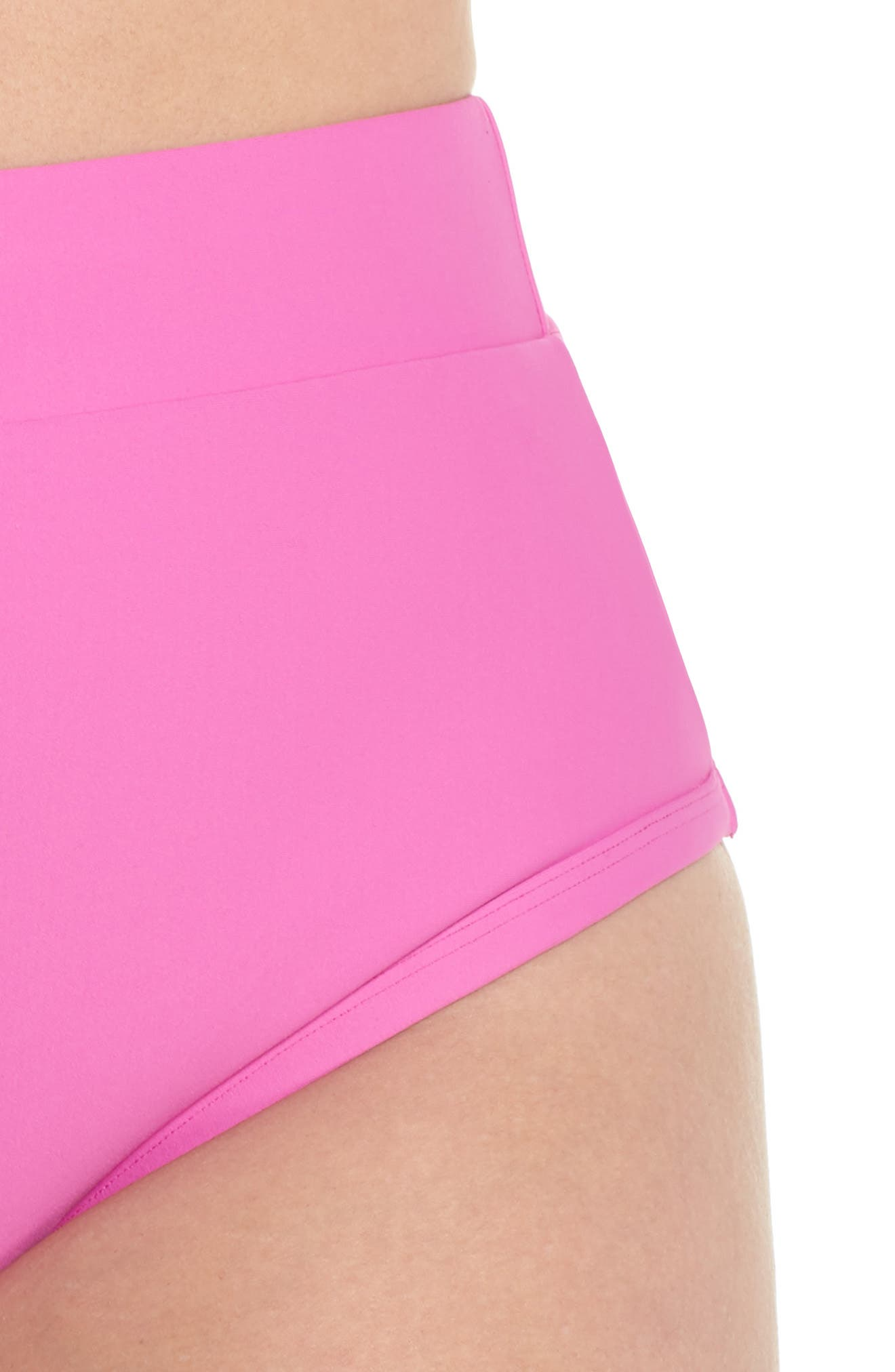 Lover High Waist Bikini Bottoms,                             Alternate thumbnail 4, color,                             MAGENTA