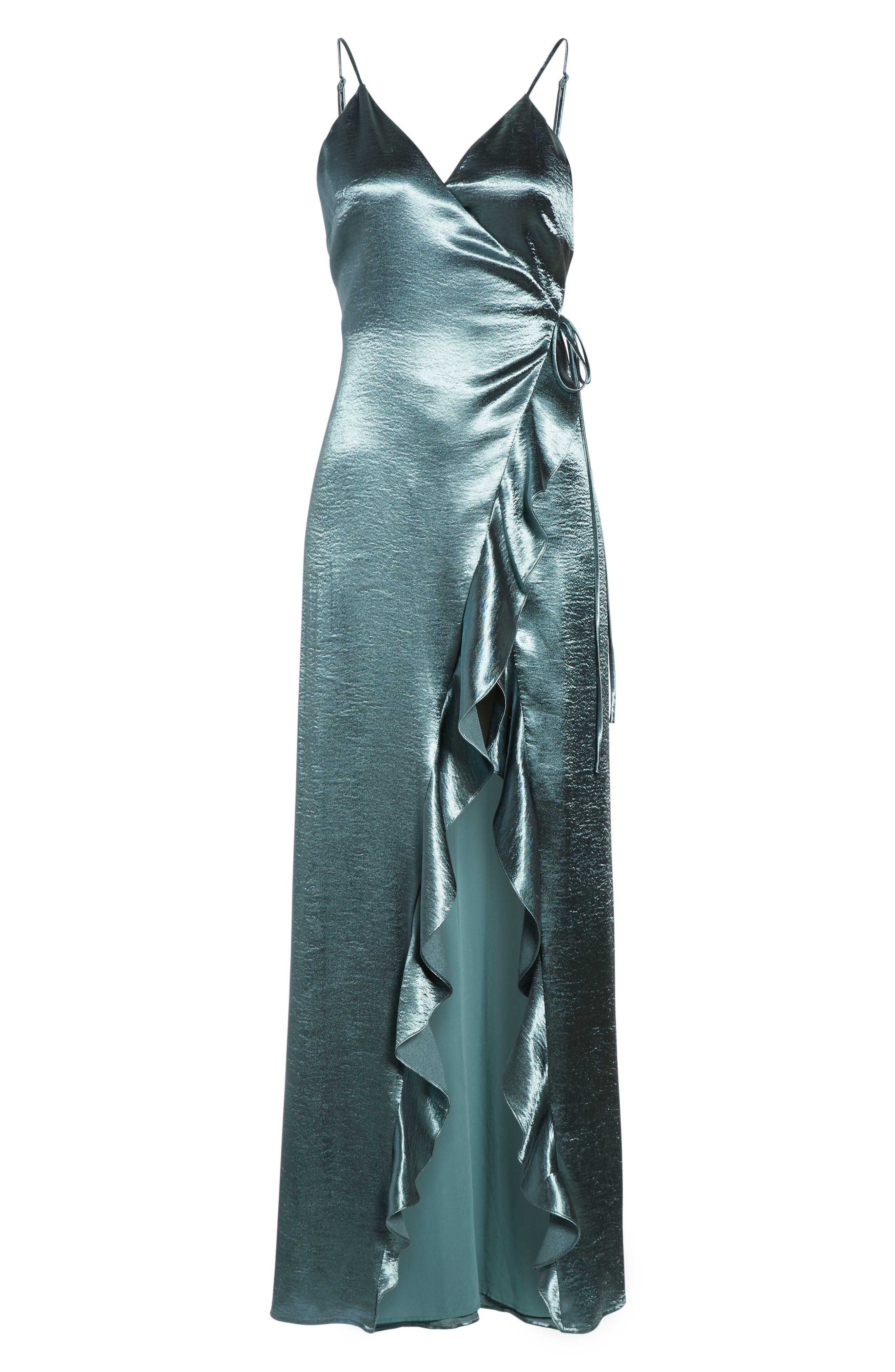 Pelican Wrap Maxi Dress,                             Alternate thumbnail 6, color,                             300