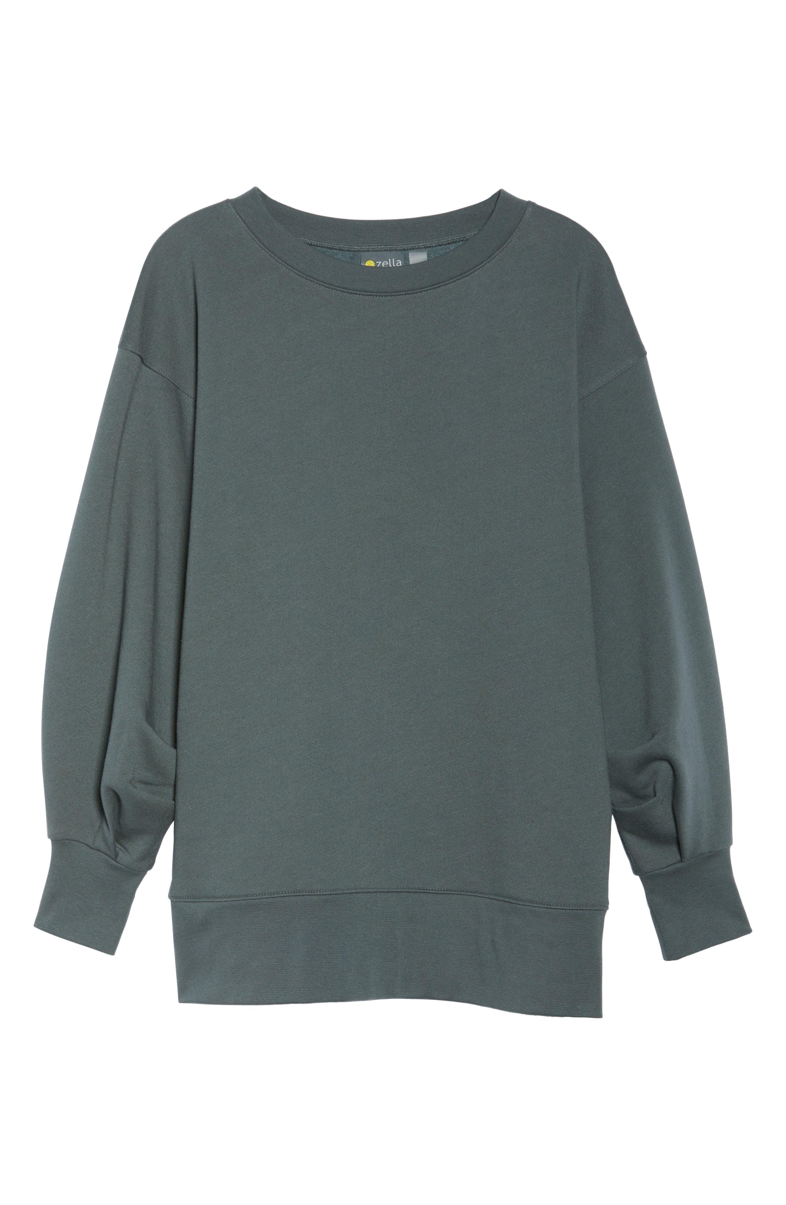 Boxy Oversize Sweatshirt,                             Alternate thumbnail 18, color,