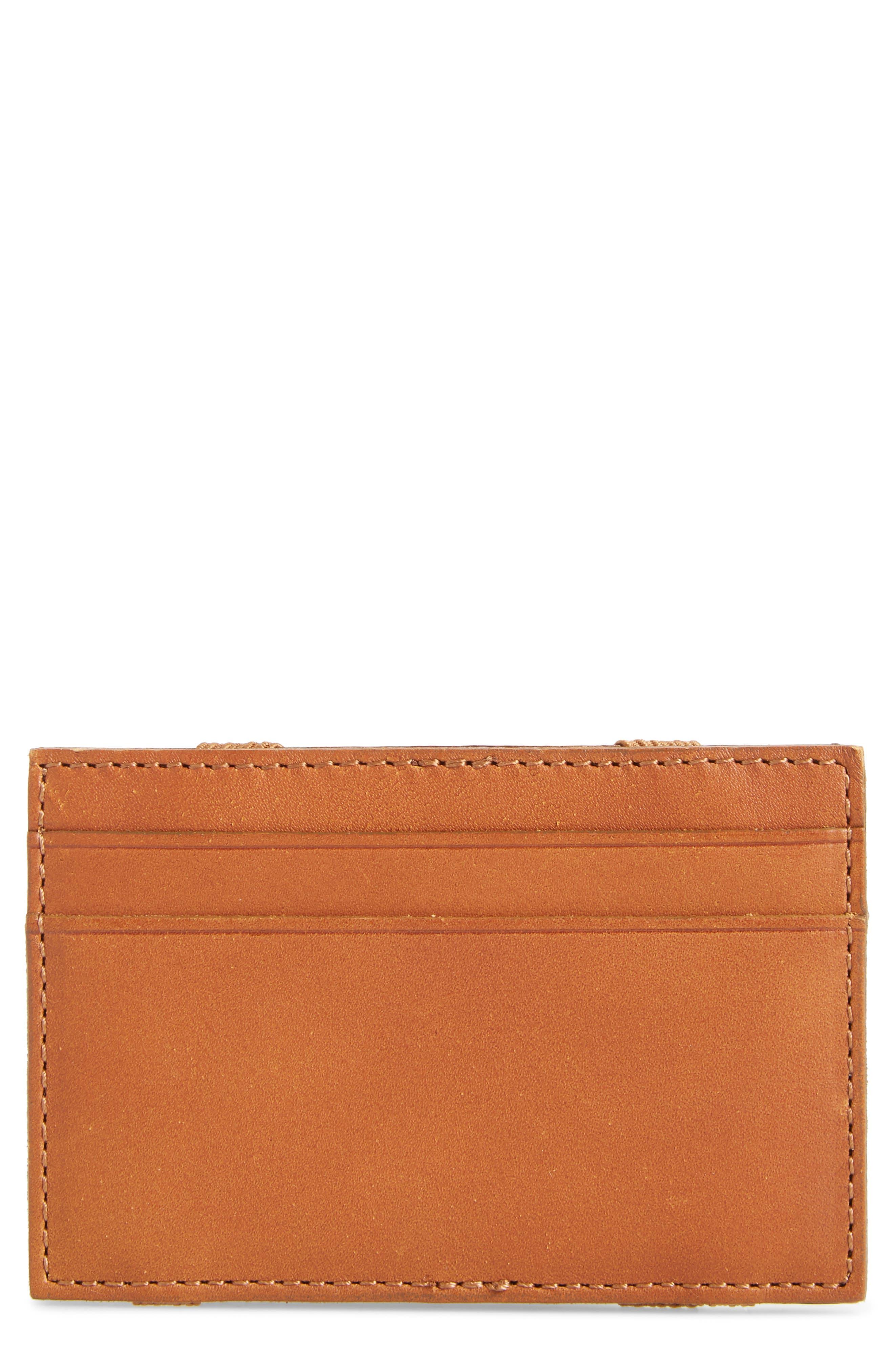 J.CREW,                             Magic Leather Wallet,                             Main thumbnail 1, color,                             200