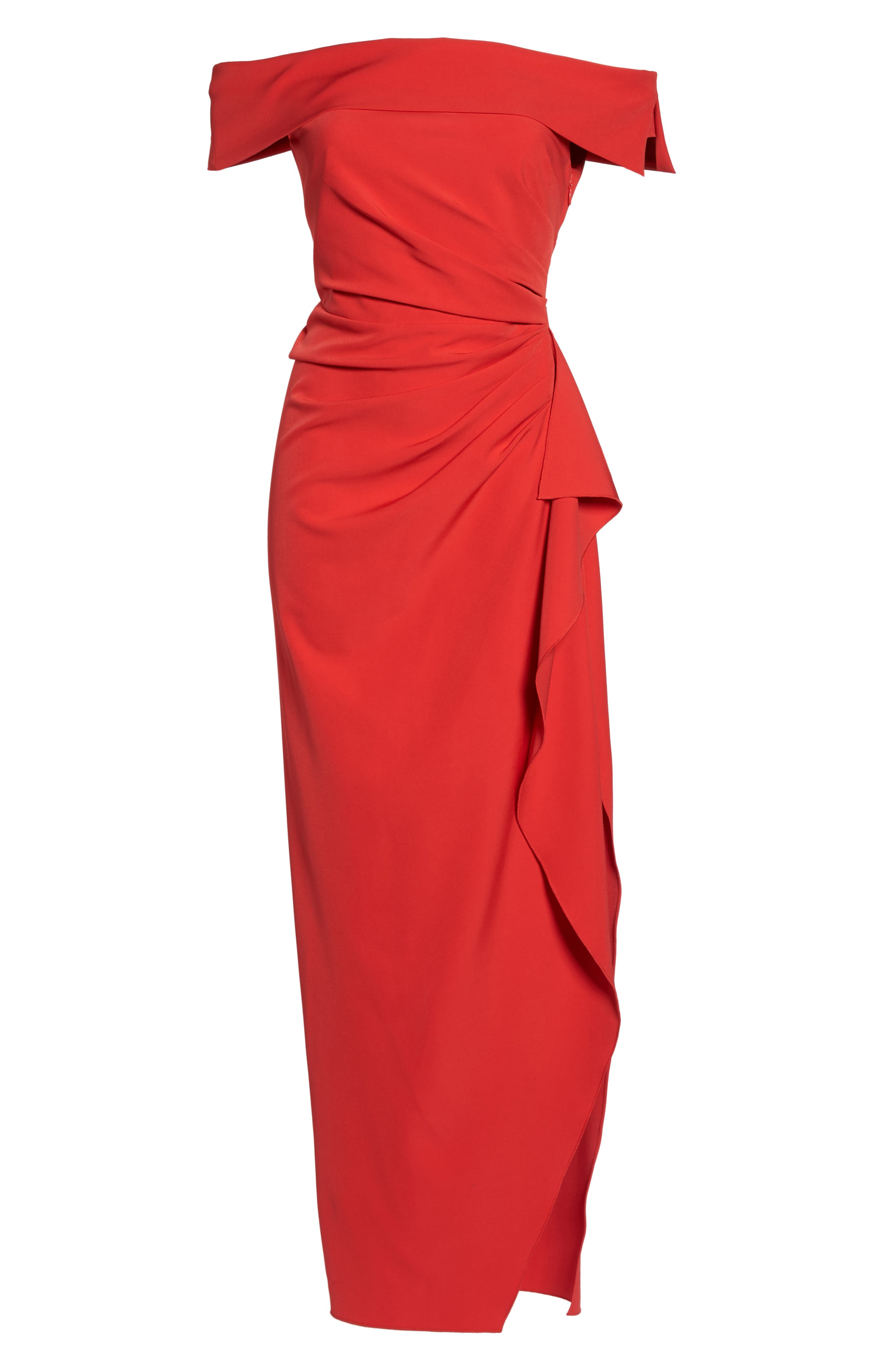 Off the Shoulder Crepe Gown,                             Alternate thumbnail 24, color,