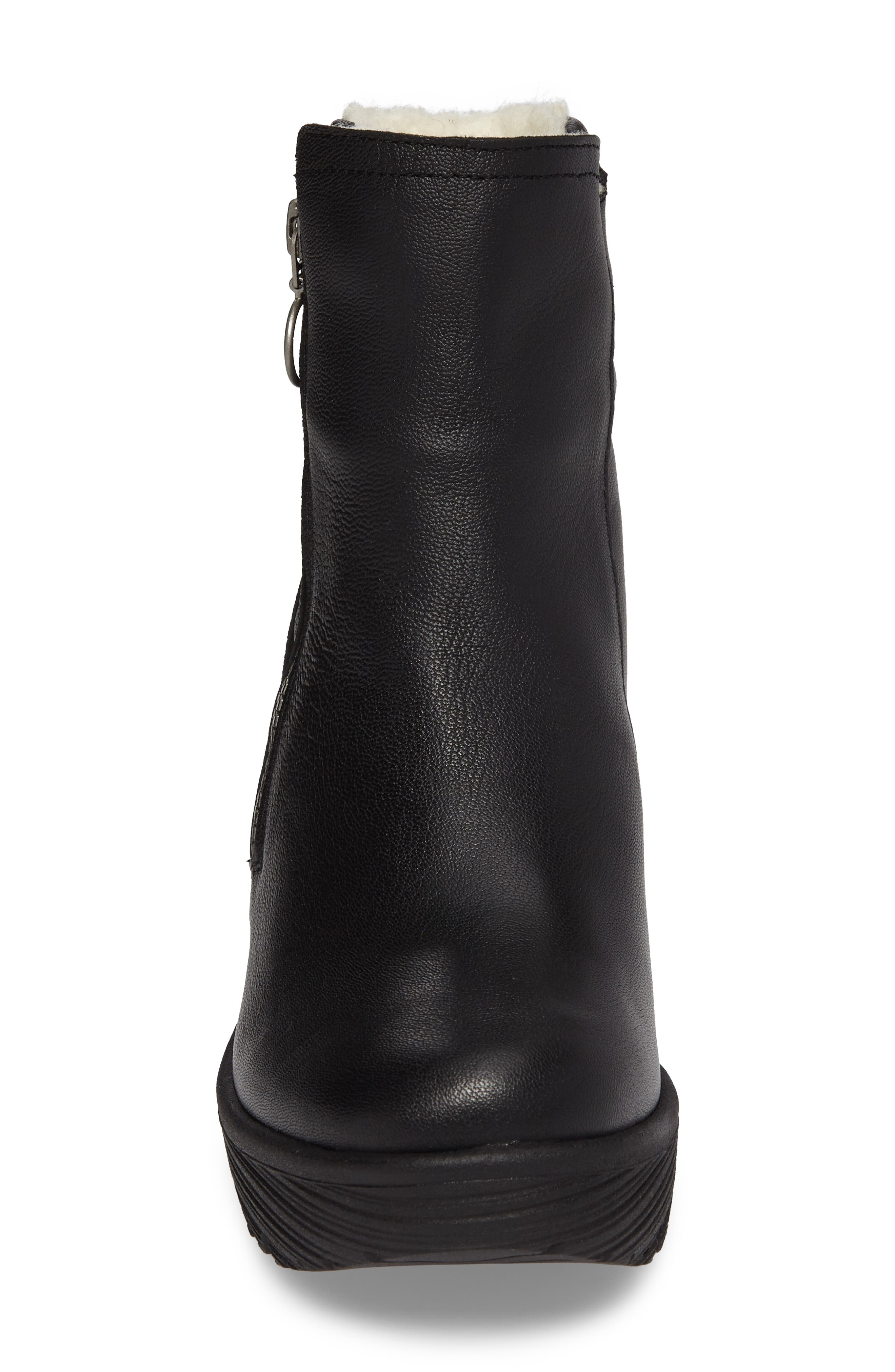 Waterproof Gore-Tex<sup>®</sup> Wedge Boot,                             Alternate thumbnail 4, color,                             001