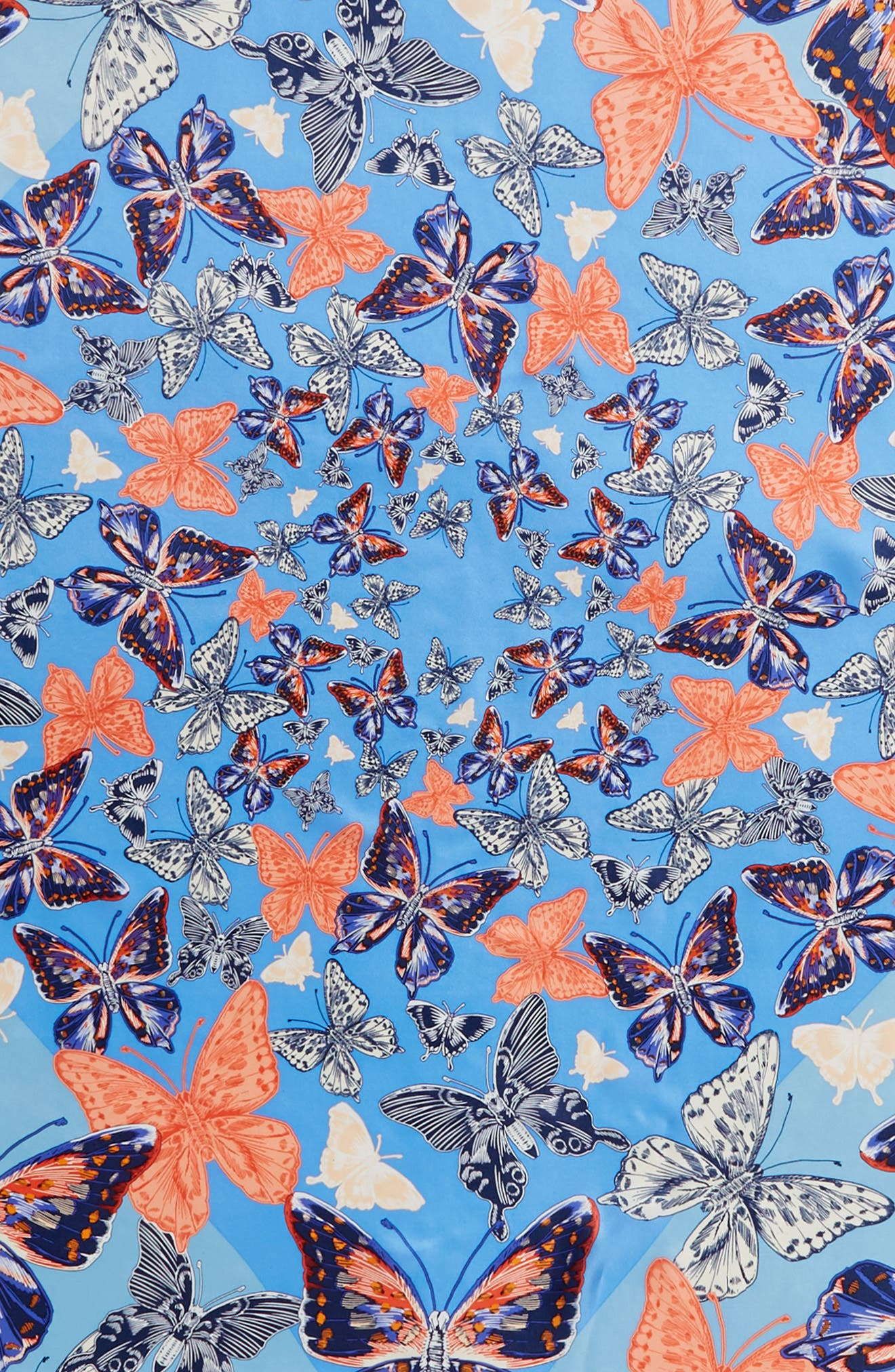 Butterfly Silk Scarf,                             Alternate thumbnail 4, color,                             425
