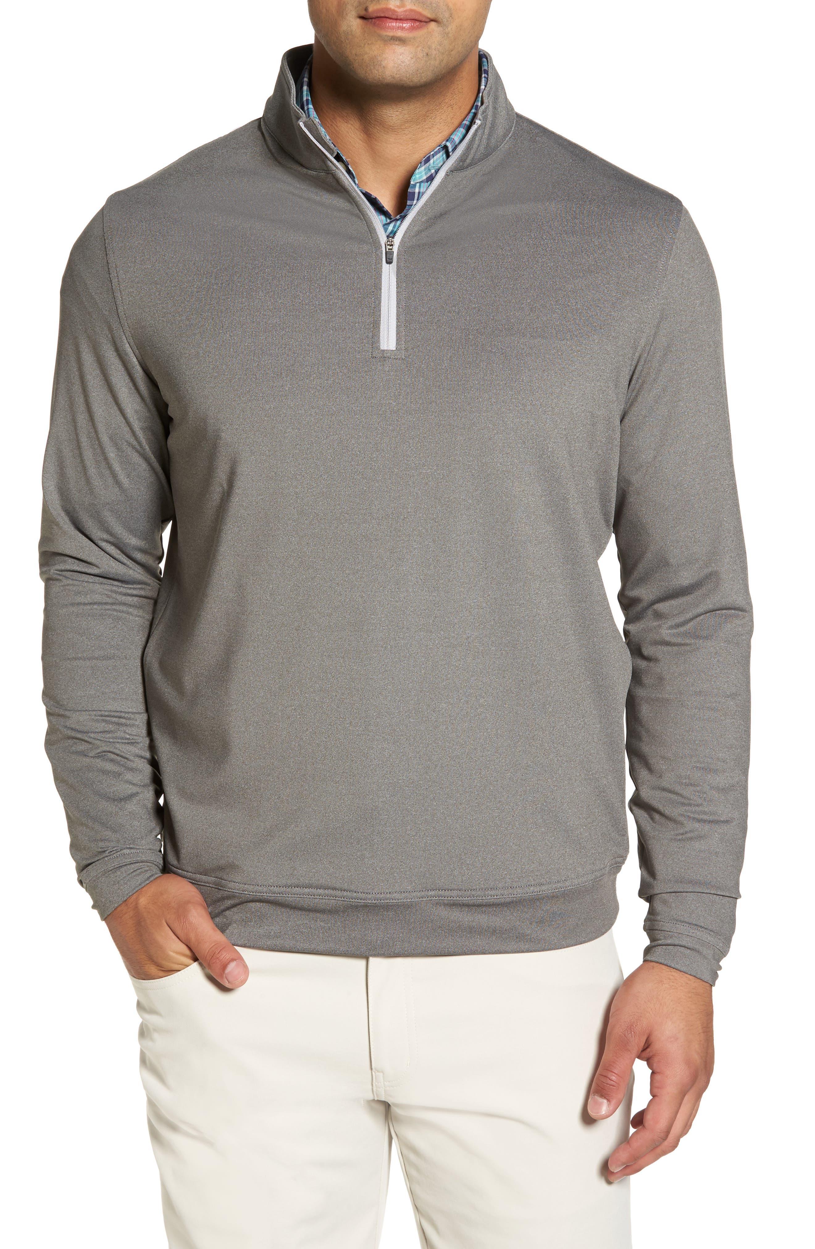 Perth Quarter Zip Stretch Pullover,                             Main thumbnail 1, color,