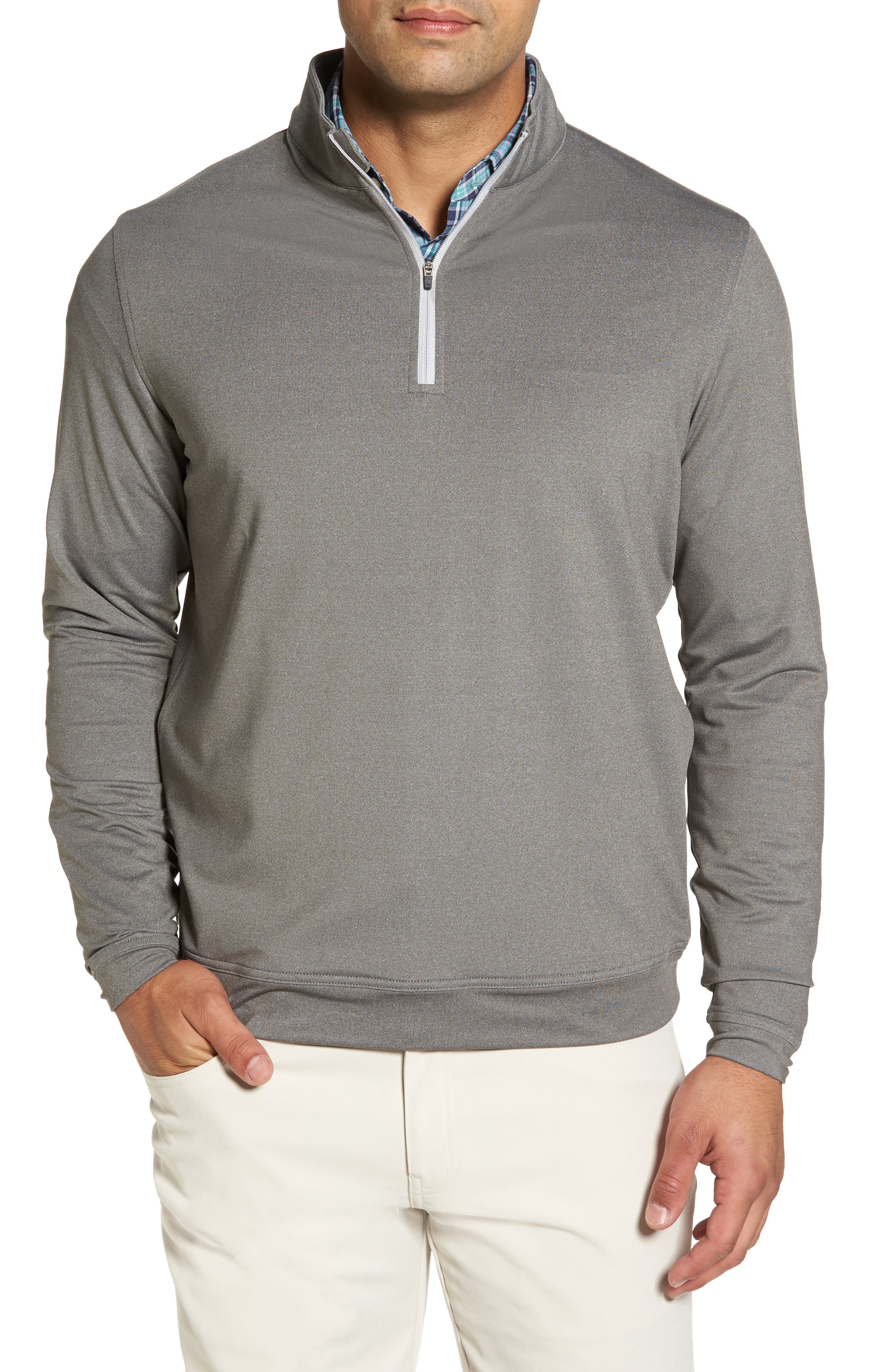 Perth Quarter Zip Stretch Pullover,                         Main,                         color,