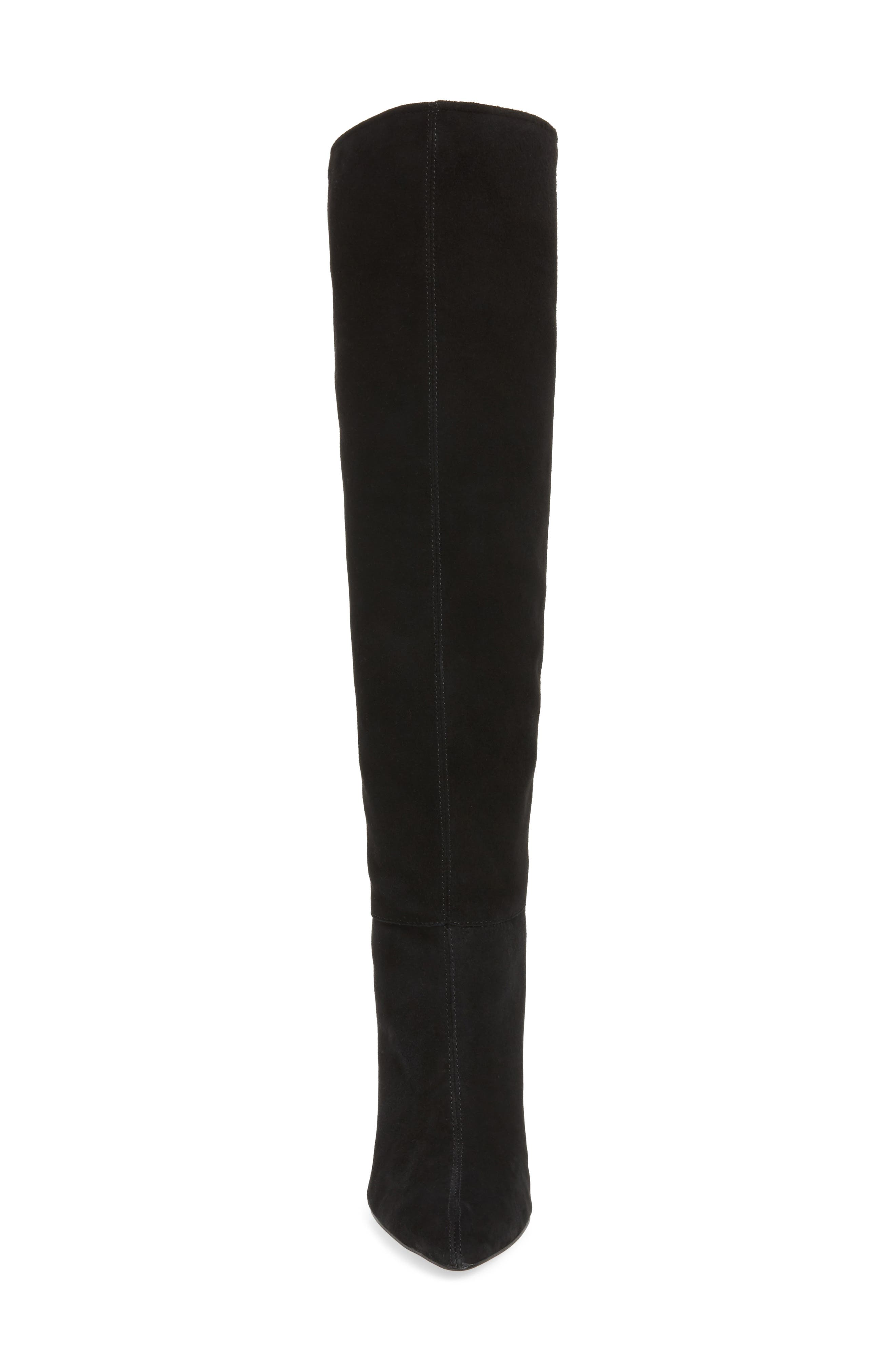 Sarelia Boot,                             Alternate thumbnail 4, color,                             BLACK SUEDE