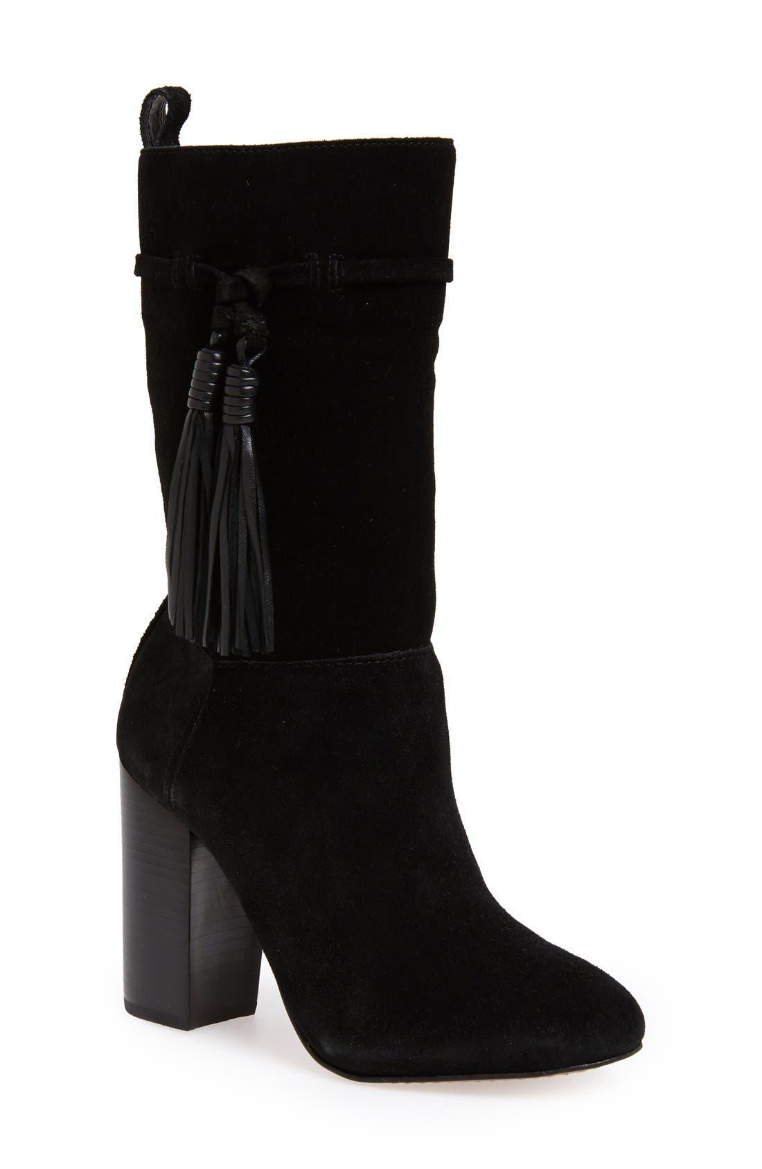 'Fermel' Slouch Tassel Boot,                         Main,                         color, 001
