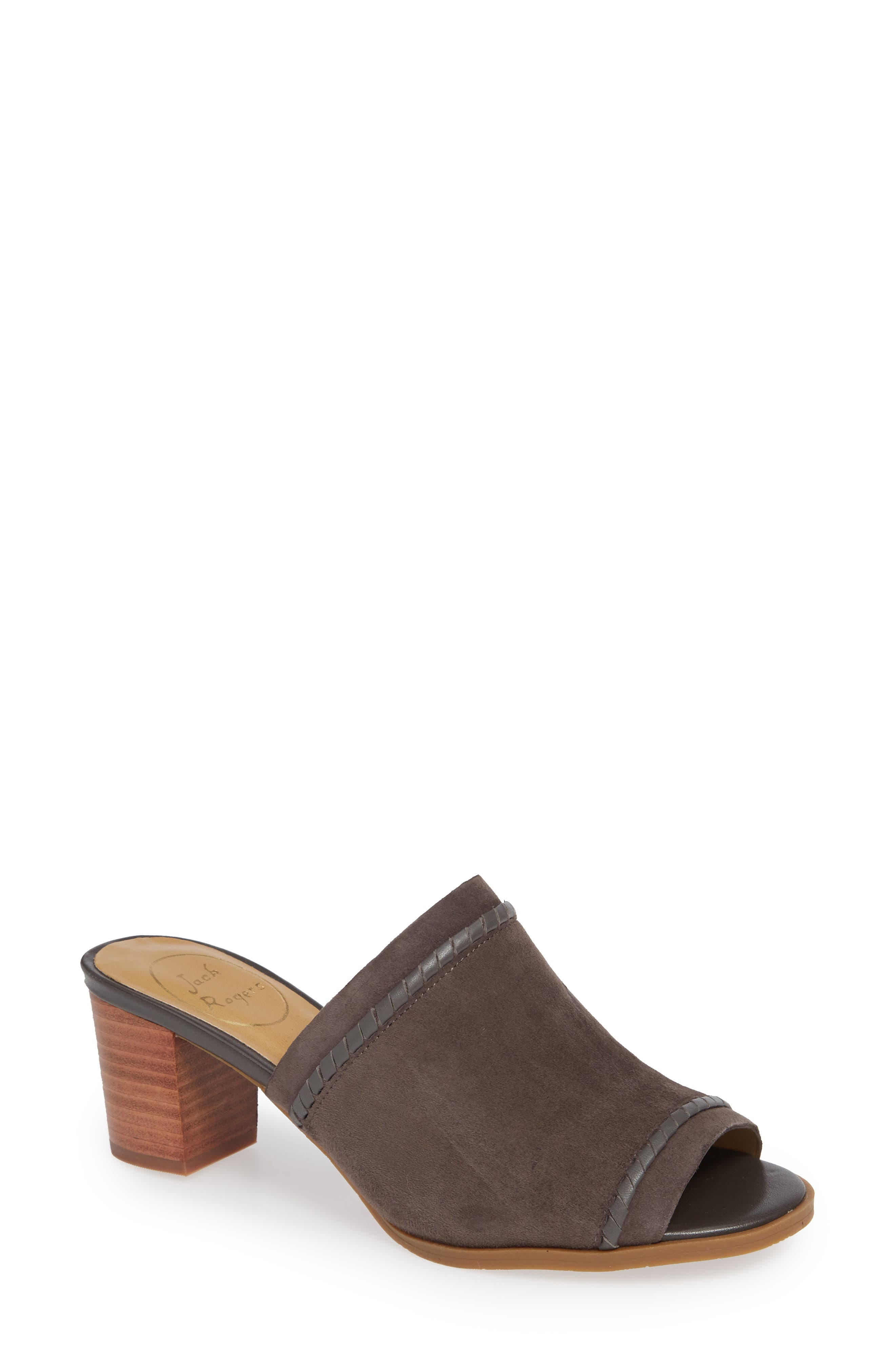 Campbell Mule,                             Main thumbnail 1, color,                             CHARCOAL SUEDE
