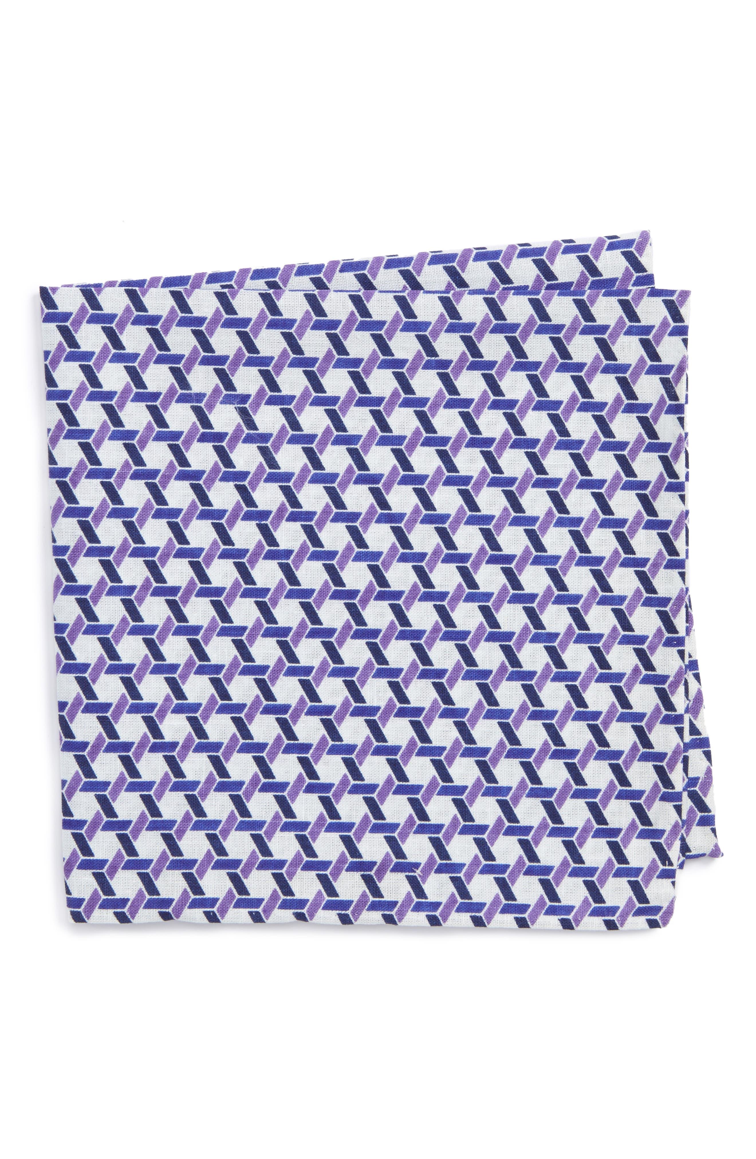 Gallo Geometric Pocket Square,                             Main thumbnail 1, color,                             500