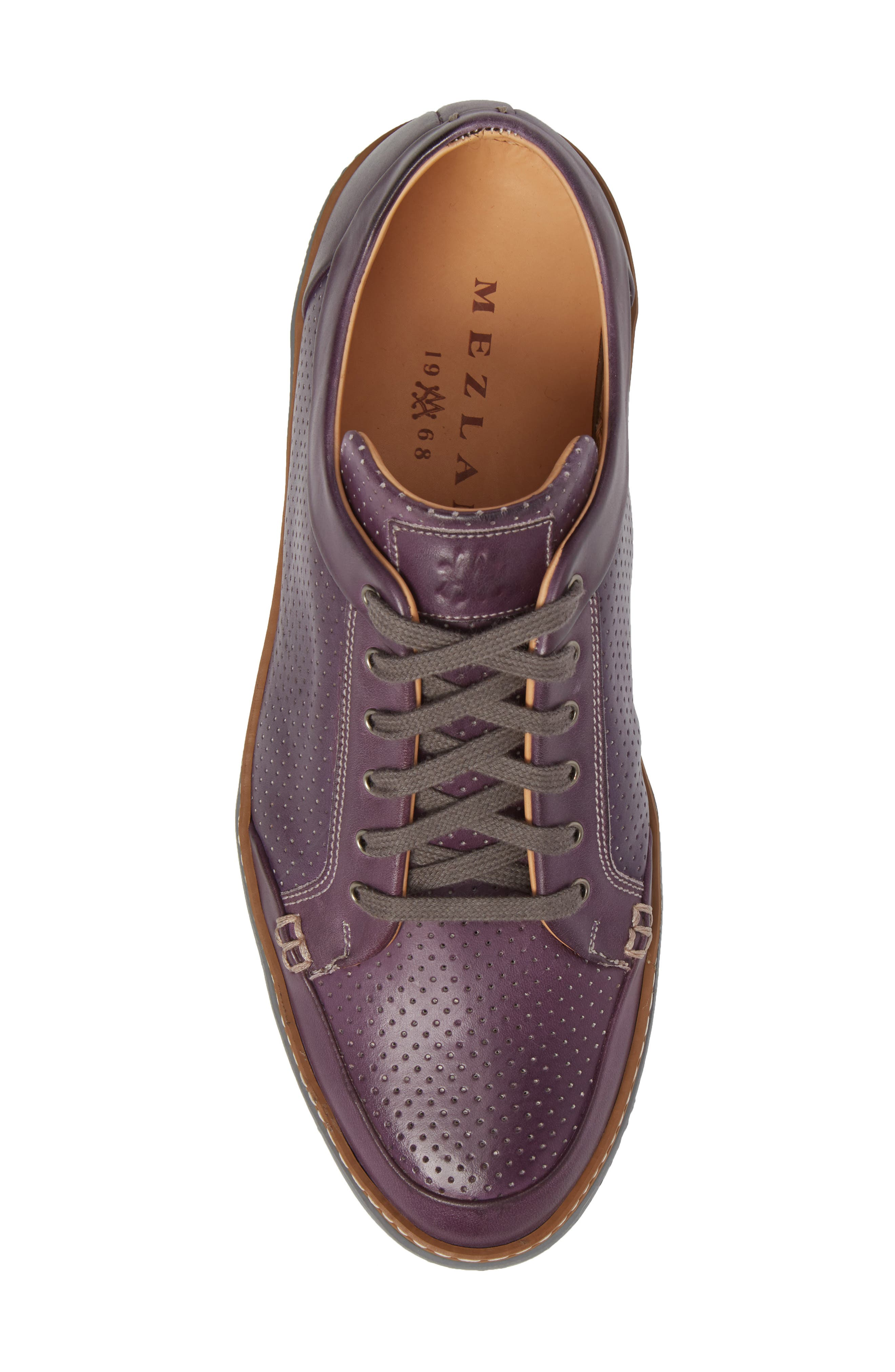 Ceres Perforated Low Top Sneaker,                             Alternate thumbnail 5, color,                             PURPLE LEATHER